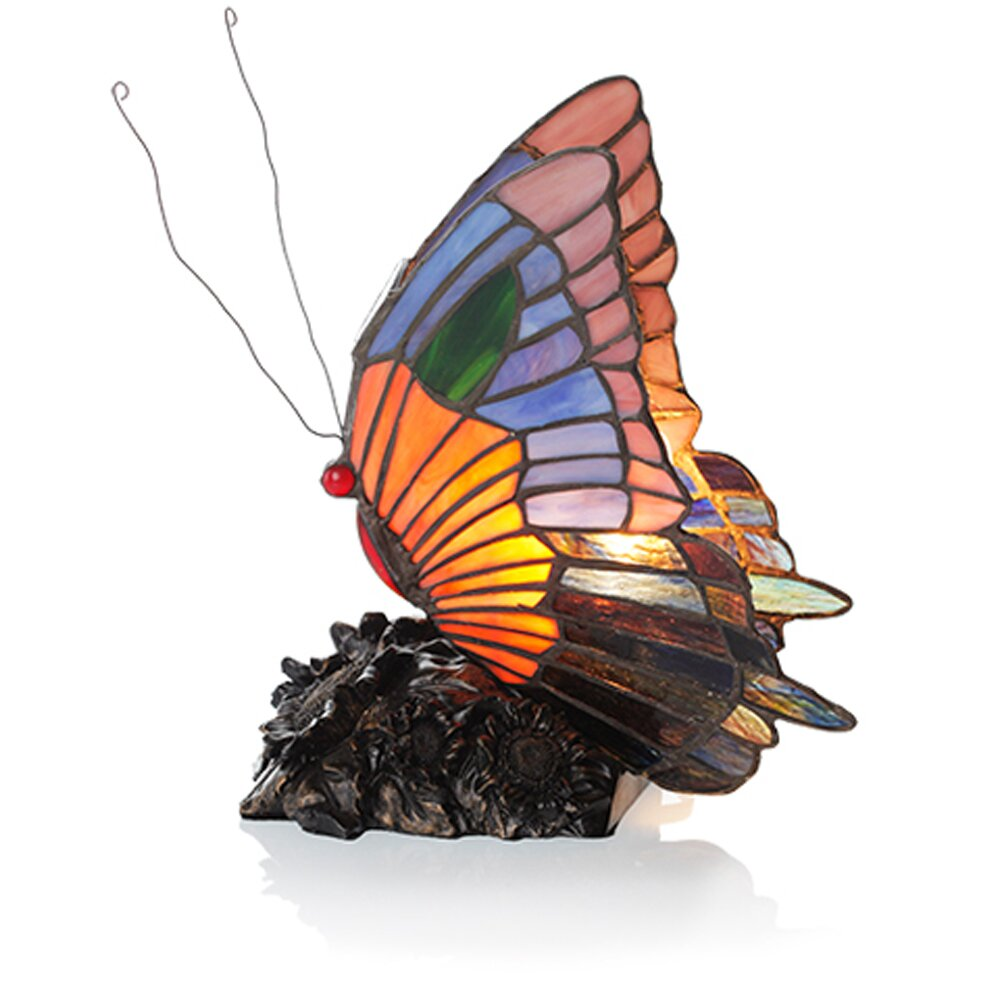 butterfly tiffany style stained glass h table lamp by river of. Black Bedroom Furniture Sets. Home Design Ideas
