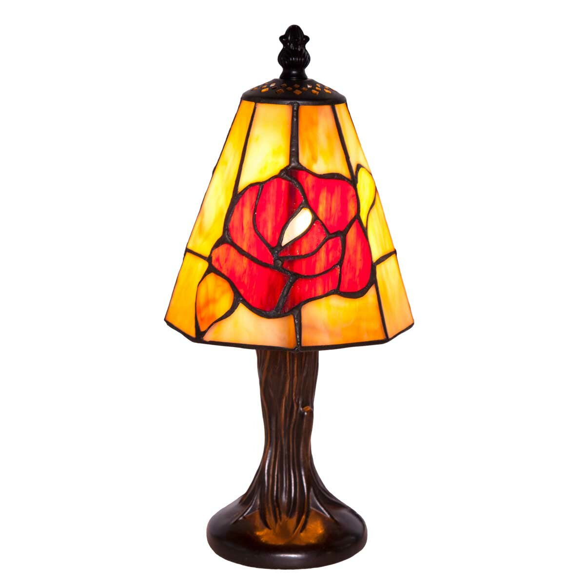 rose tiffany style stained glass 11 h table lamp reviews wa. Black Bedroom Furniture Sets. Home Design Ideas
