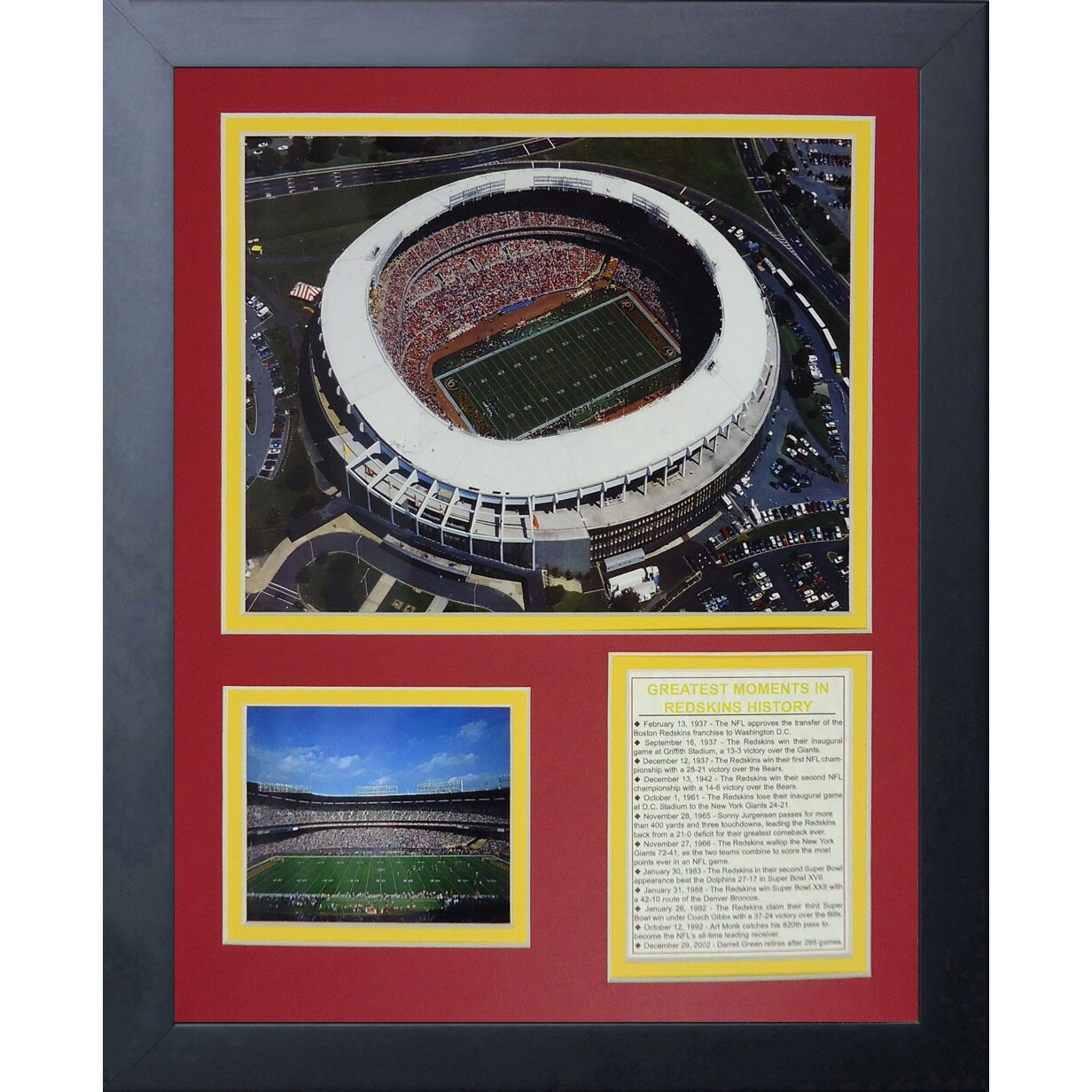 Redskins New Stadium: Washington Redskins RFK Stadium Framed Memorabili