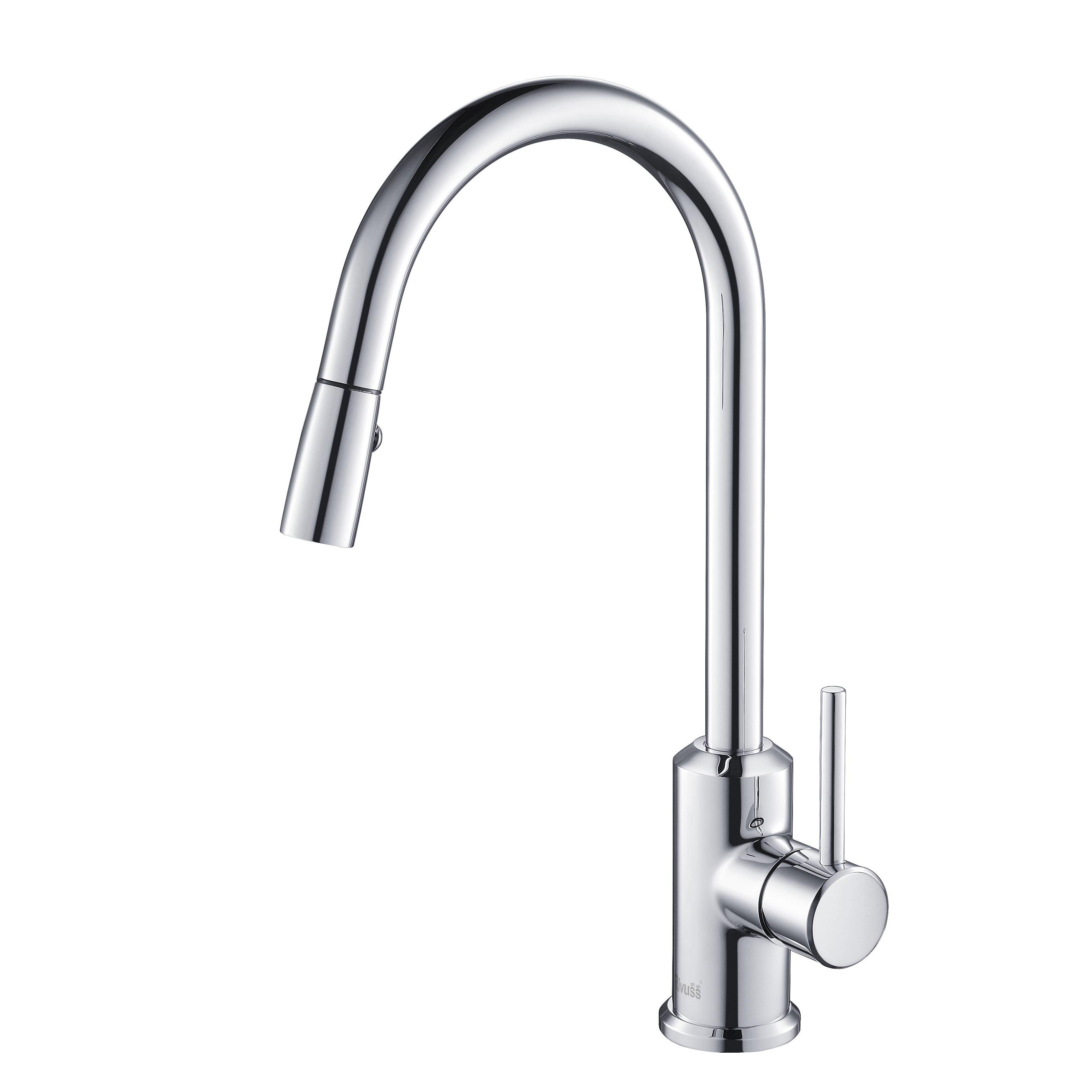 rivuss brunei single handle pull down kitchen faucet