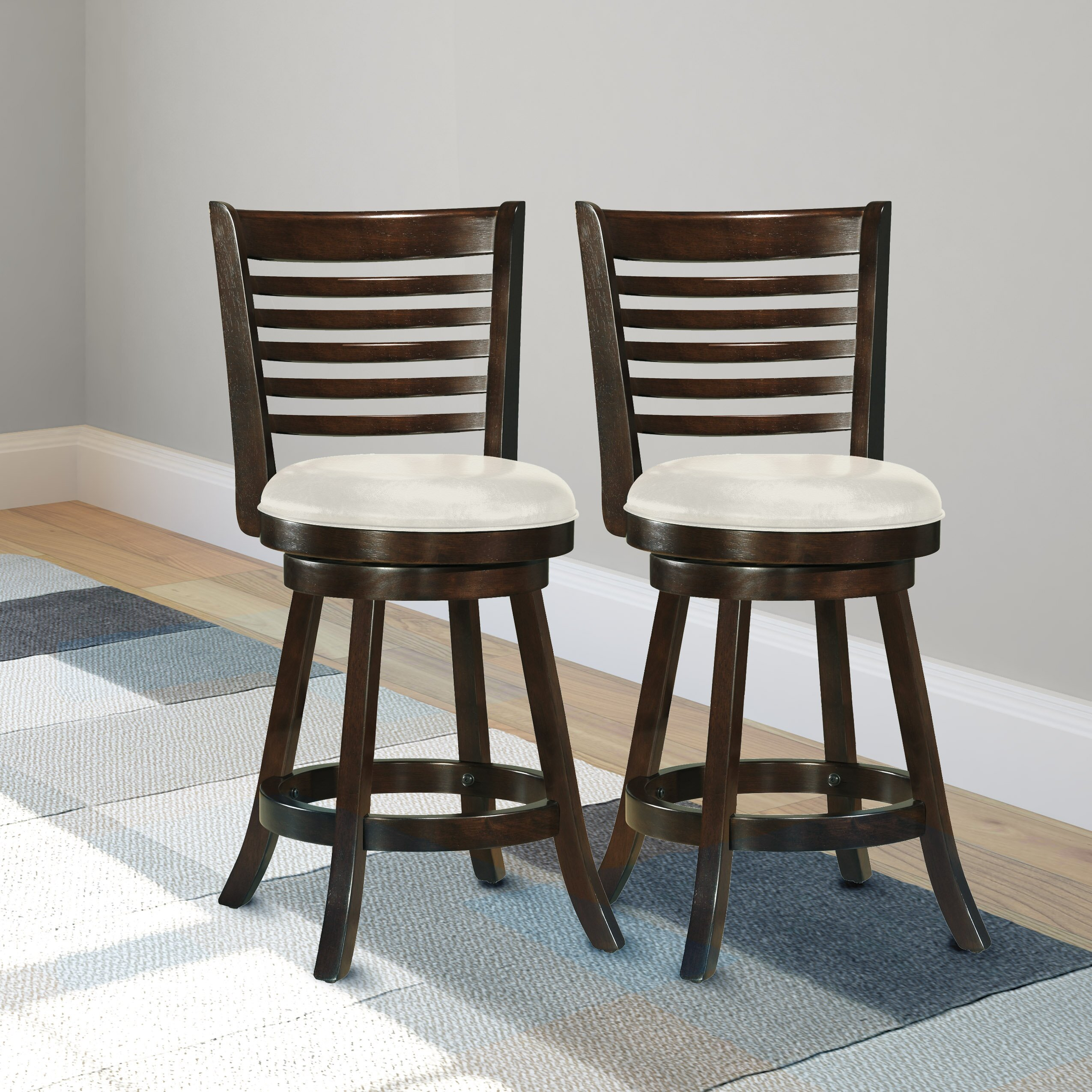 Amazing photo of  Woodgrove 24 Swivel Bar Stool with Cushion & Reviews Wayfair with #332920 color and 2550x2550 pixels