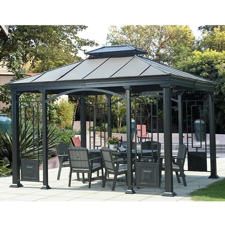 10 Ft 10 Ft Canopy : Monterey ft h w d gazebo wayfair