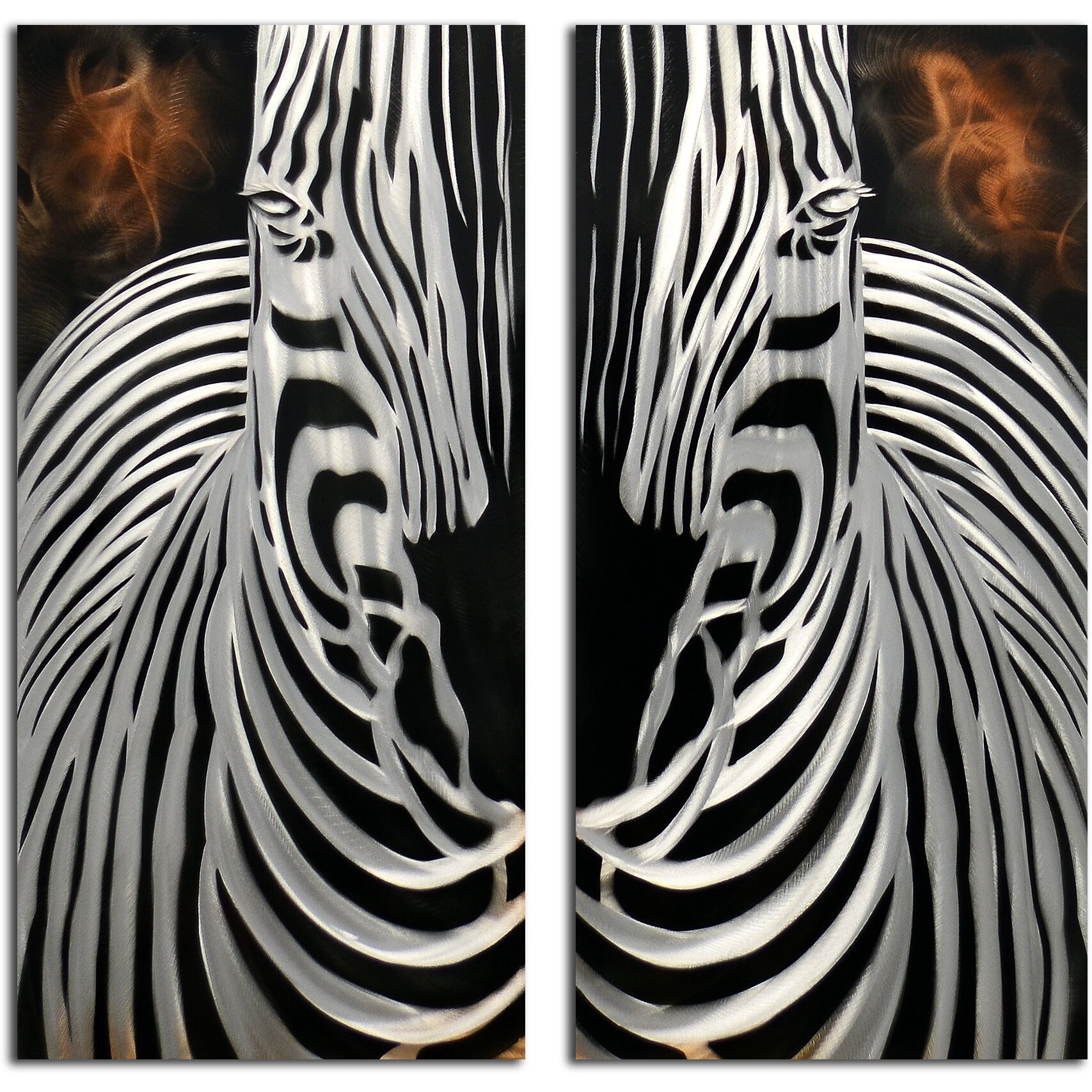 2 Piece Zebra Overlooking Wall D Cor Set Wayfair