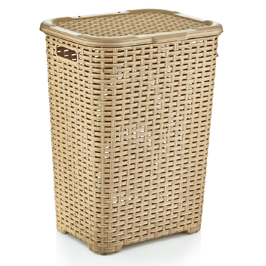 Superior performance superio brand wicker style laundry hamper reviews wayfair - Wicker clothes hamper ...