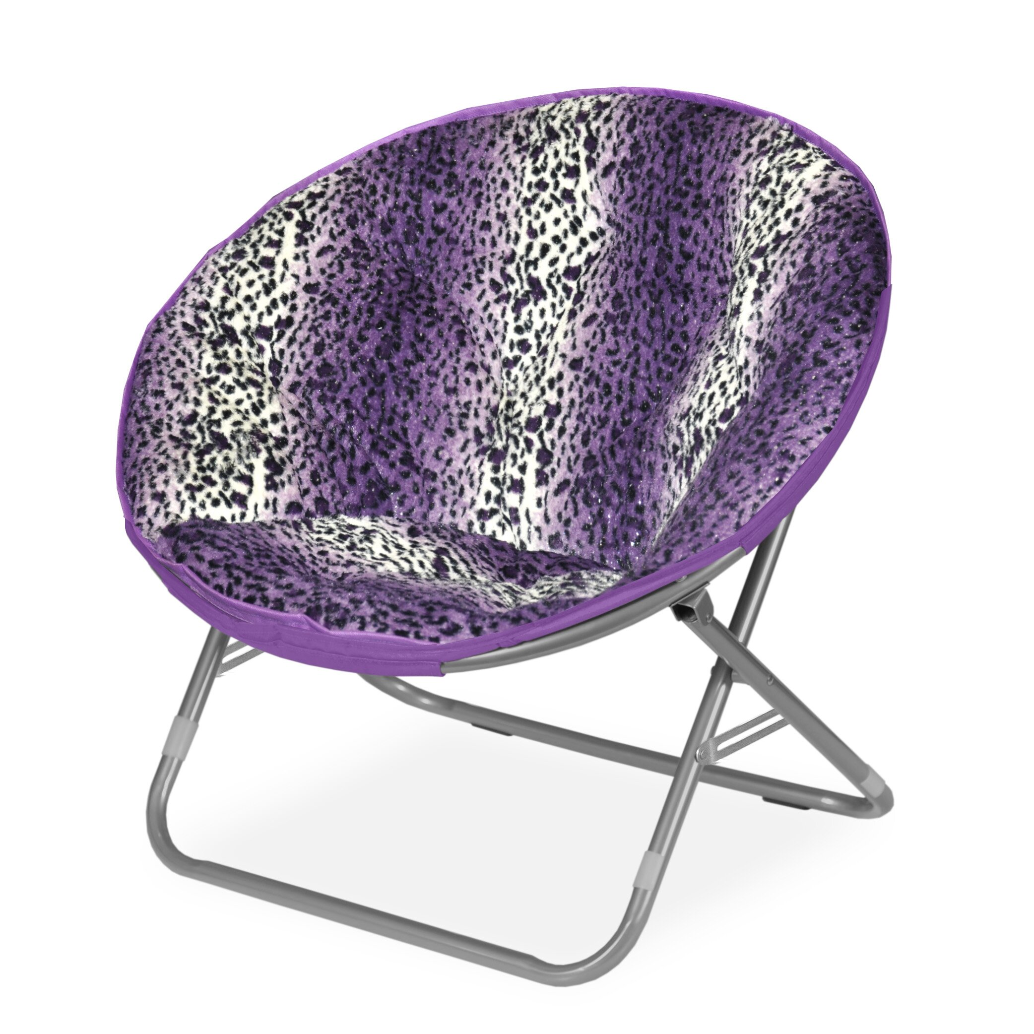 Idea Nuova Rock Your Room Leopard Ombre Faux Fur Saucer Papasam Chair & Reviews | Wayfair