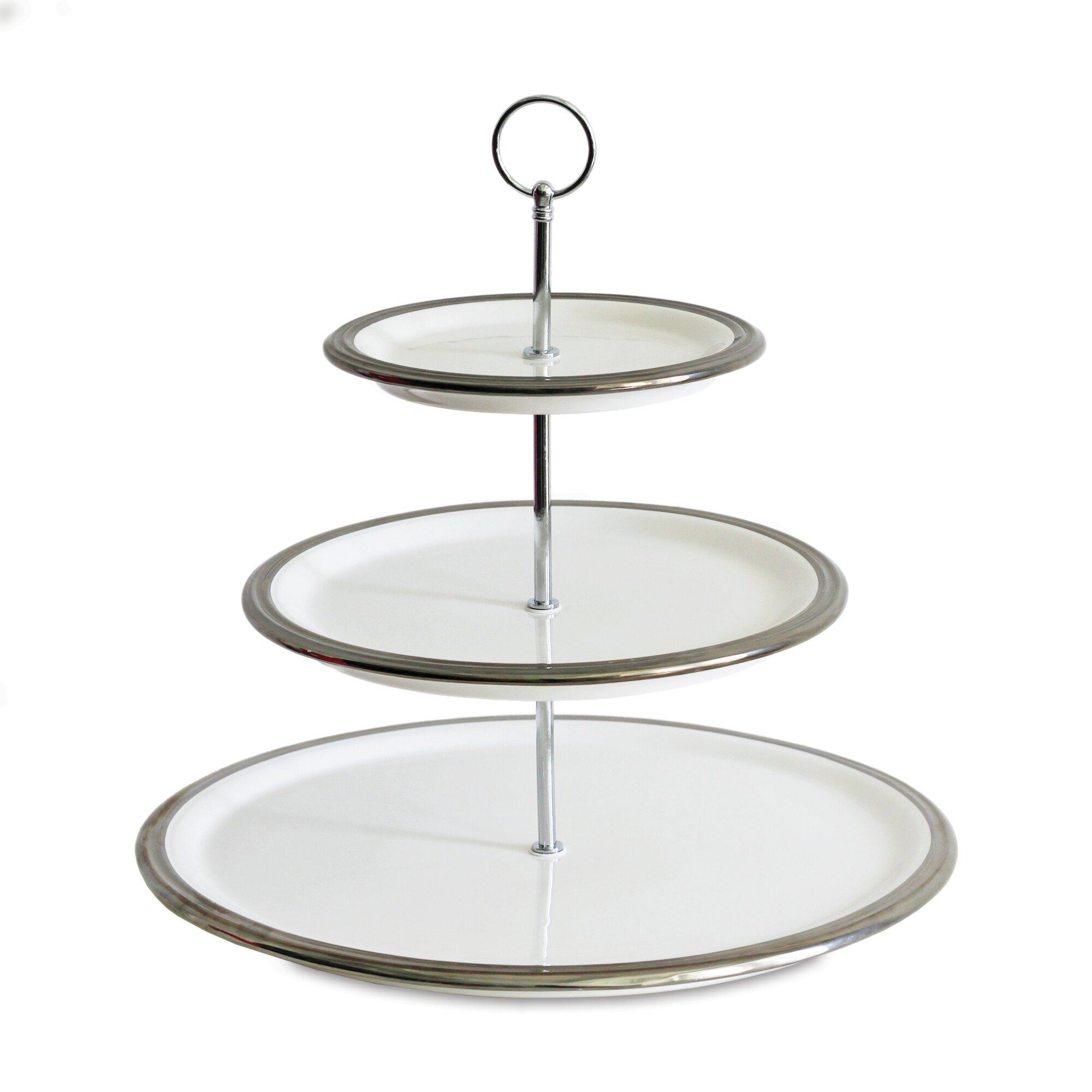baum 3 tier server tiered stand reviews wayfair. Black Bedroom Furniture Sets. Home Design Ideas