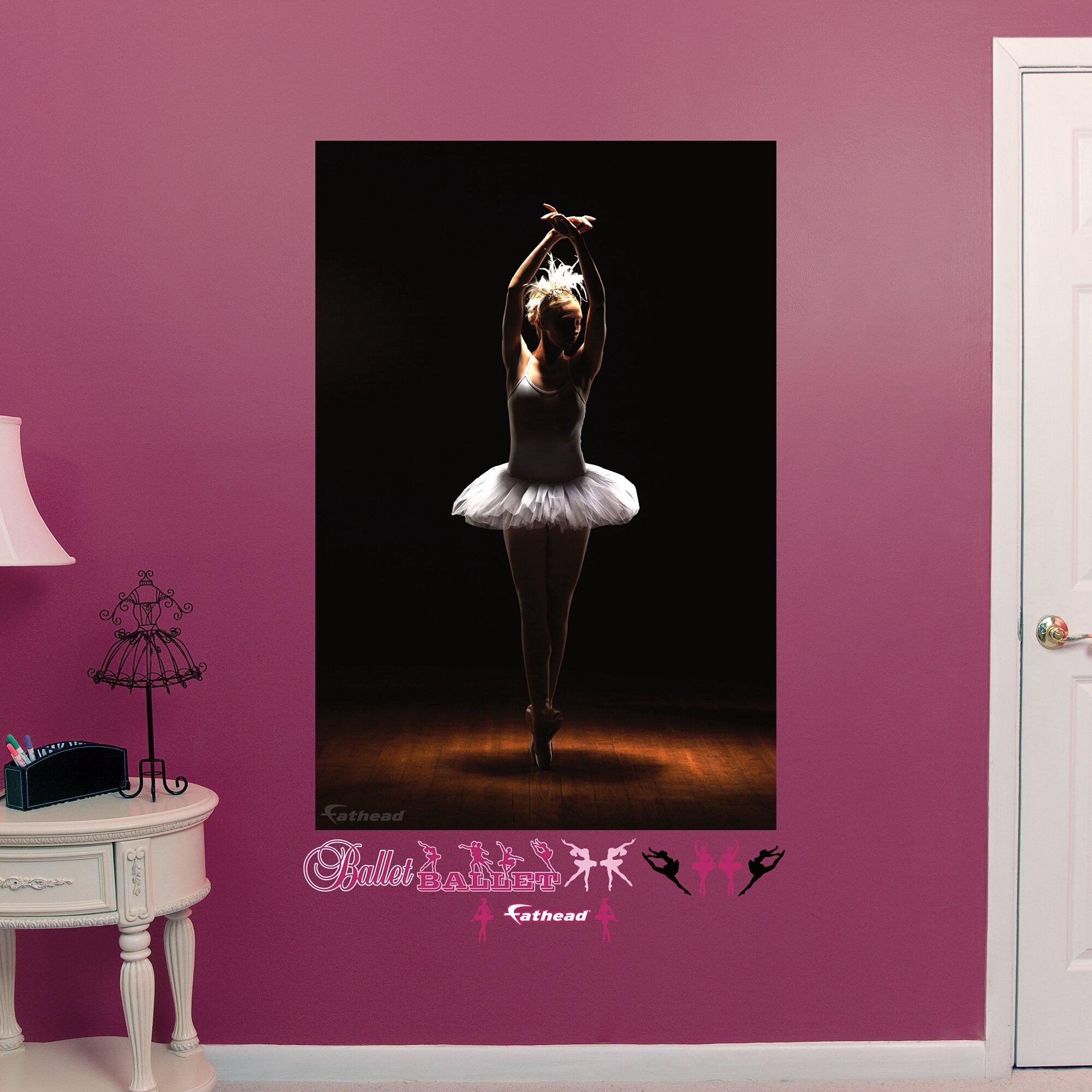 ballerina peel and stick wall mural wayfair ballerinas paint by number wall mural
