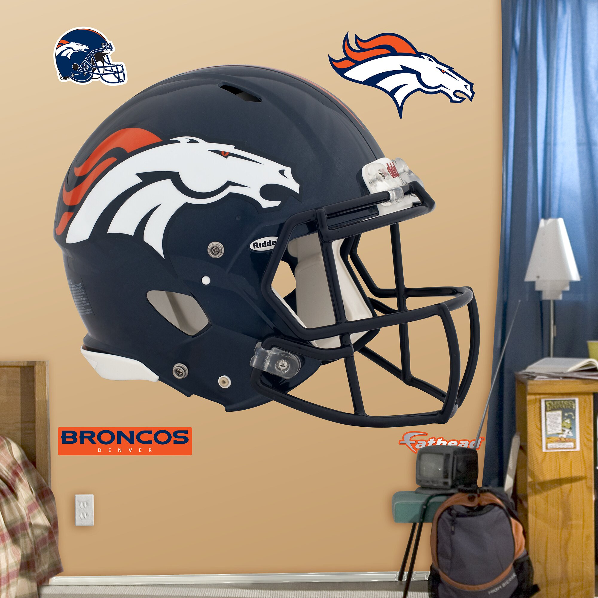 fathead nfl revolution helmet wall decal amp reviews wayfair nfl officially licensed nfl tennessee titans teammate logo