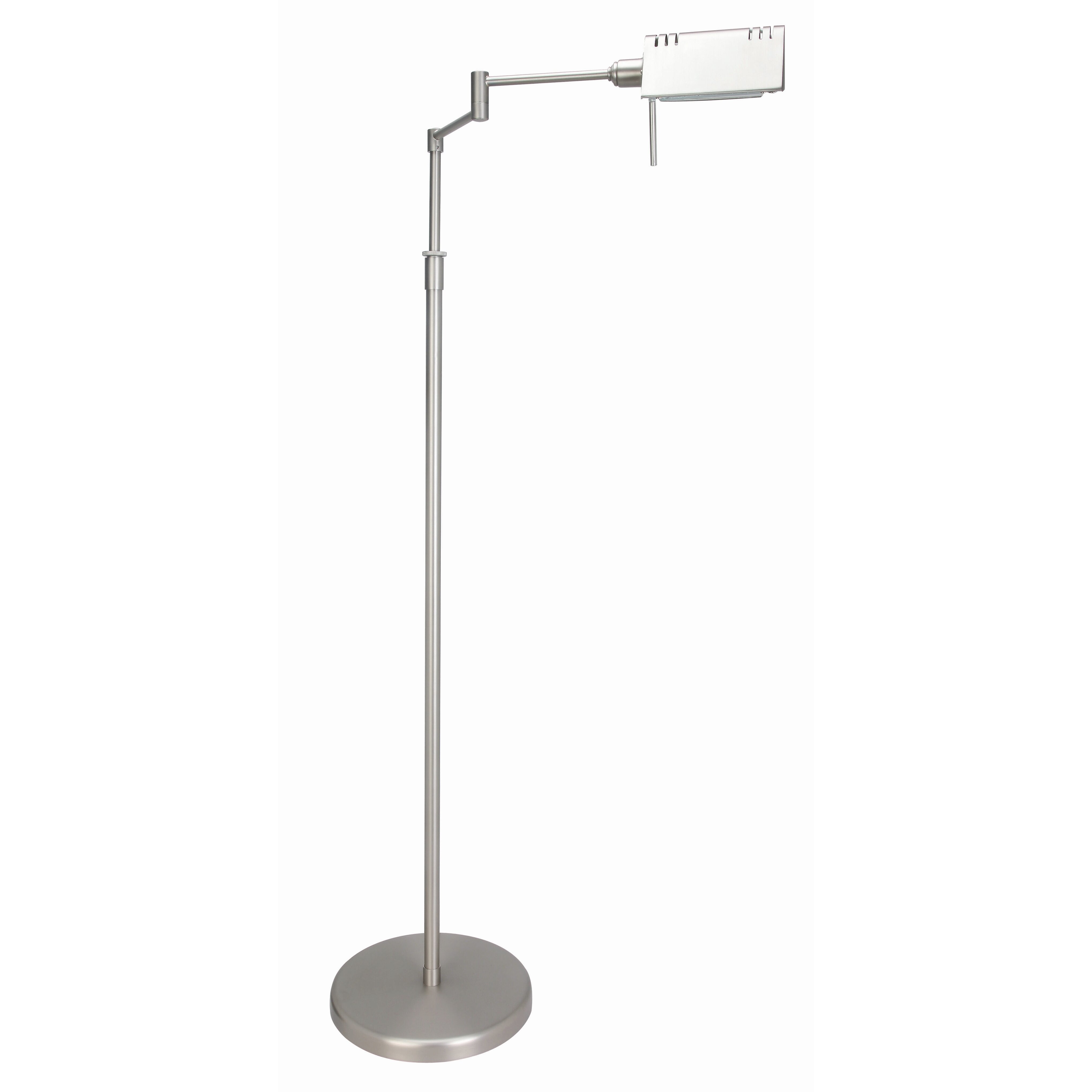 """Round 250mm Cool To Touch Shower Kit With Handheld: Lite Source Pharma Adjustable Arm 55"""" Task Floor Lamp"""