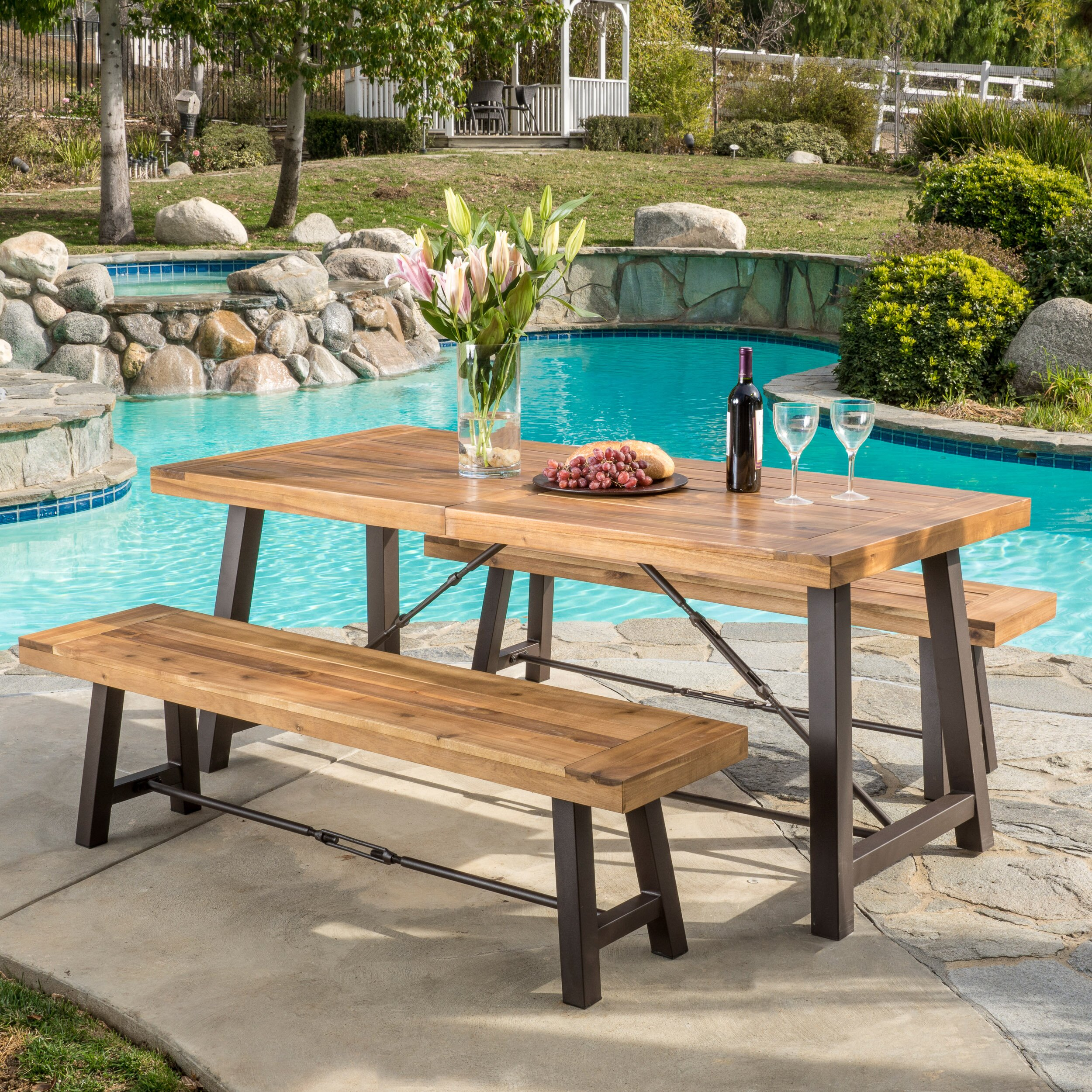 outdoor patio furniture patio dining sets home loft concepts sku