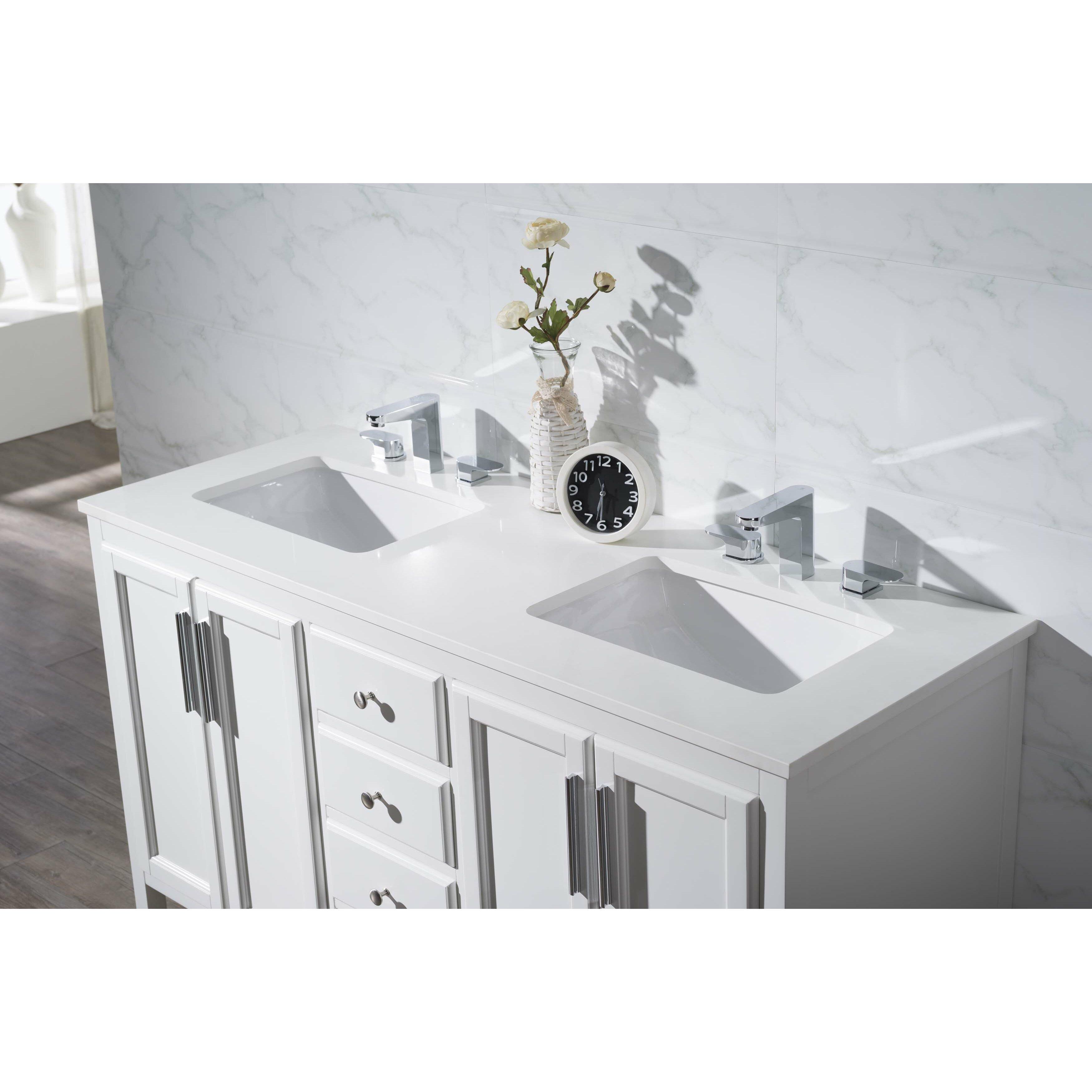 Home Loft Concepts Emily 59 Double Sink Bathroom Vanity Set Reviews Wayfair