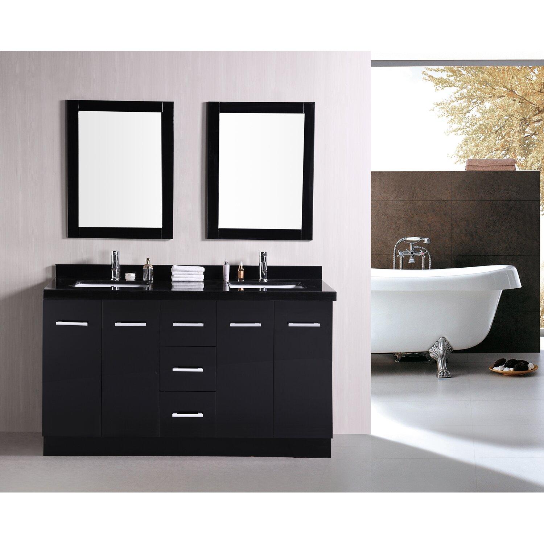 60 double bathroom vanity set wayfair