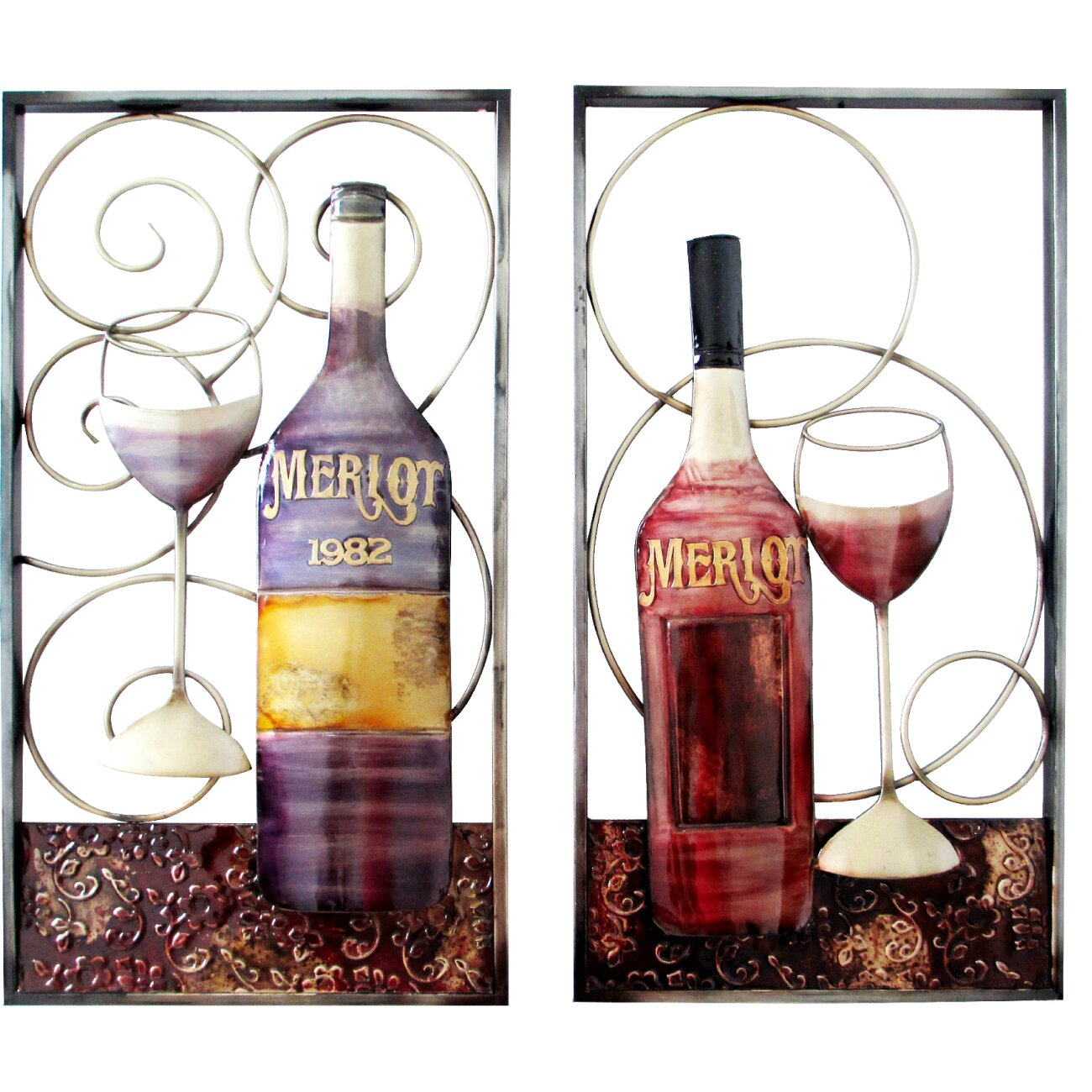 Wine Themed Home Decor: Hazelwood Home 2 Piece Wine Themed Wall Décor Set