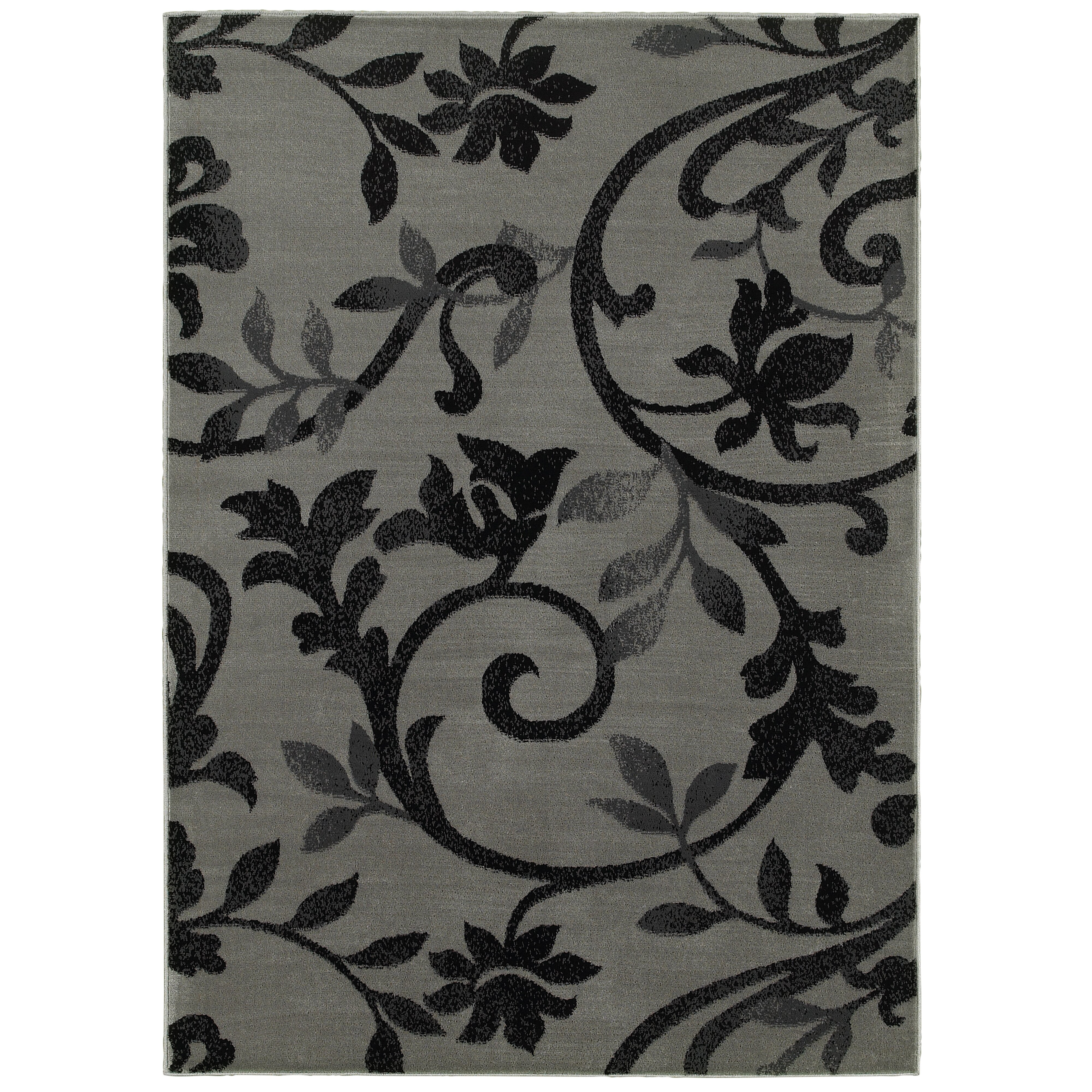 andover mills grace gray black area rug reviews wayfair. Black Bedroom Furniture Sets. Home Design Ideas