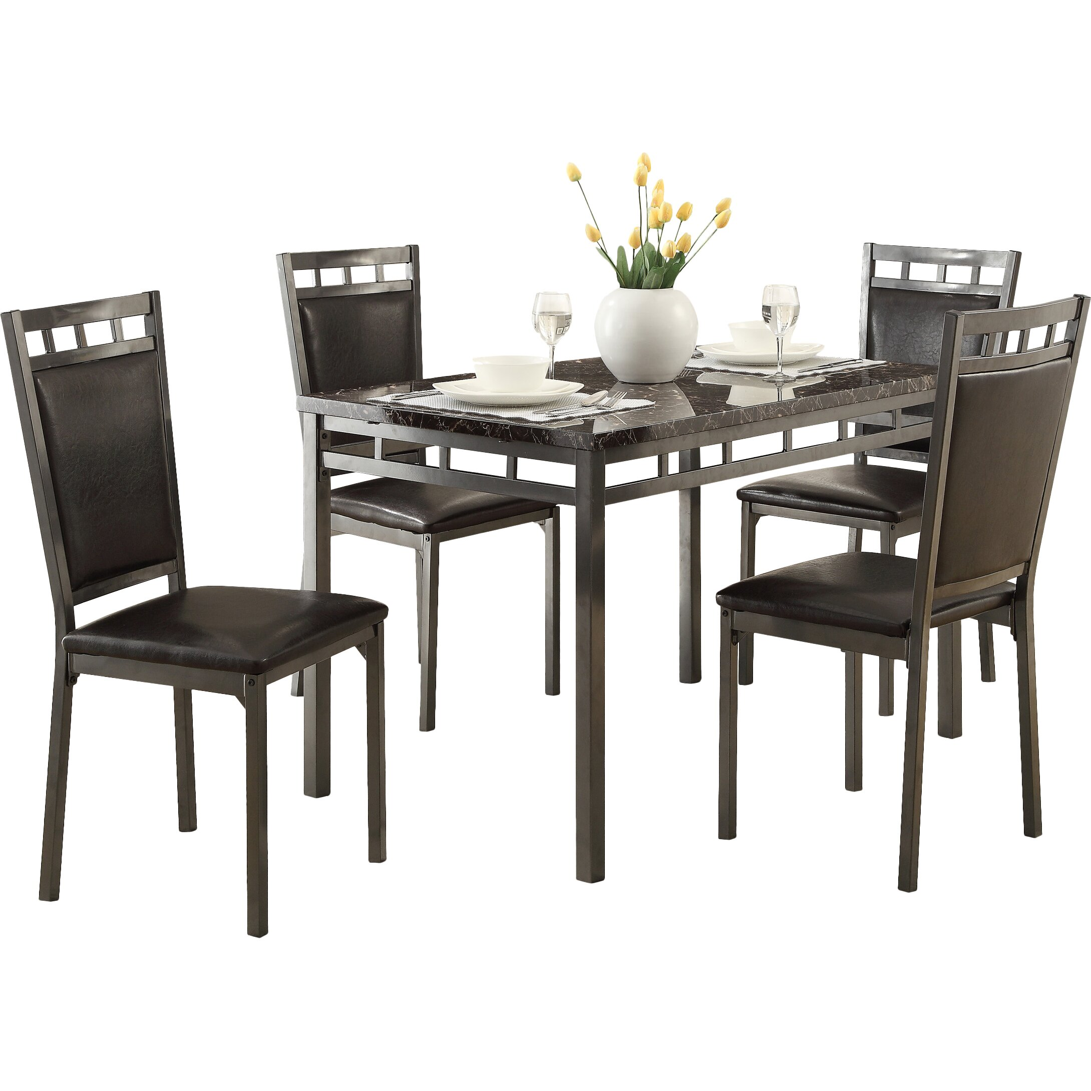 Andover mills abbey 5 piece dining set reviews wayfair for 5 piece dining room set under 200