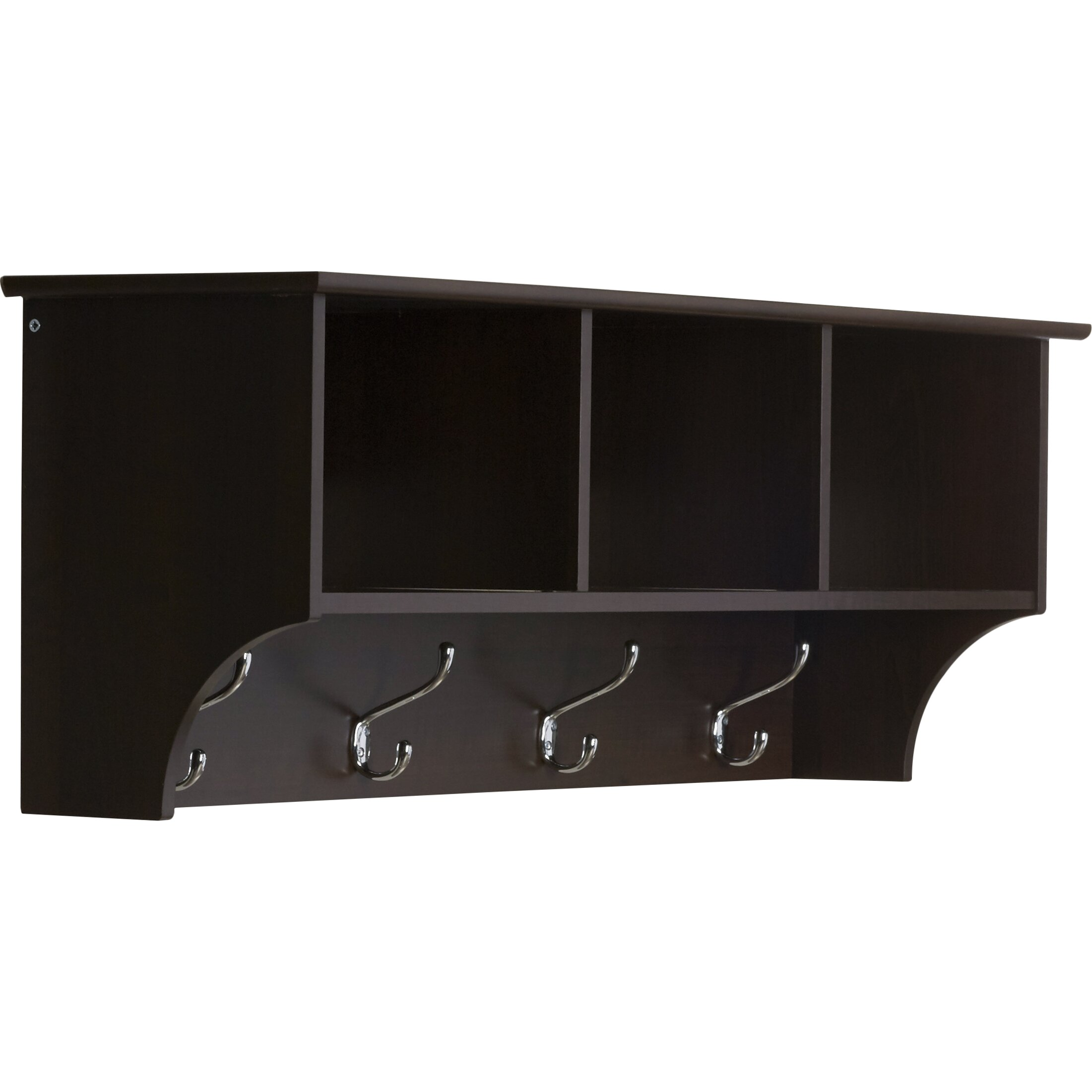 andover mills wall mounted coat rack reviews wayfair. Black Bedroom Furniture Sets. Home Design Ideas
