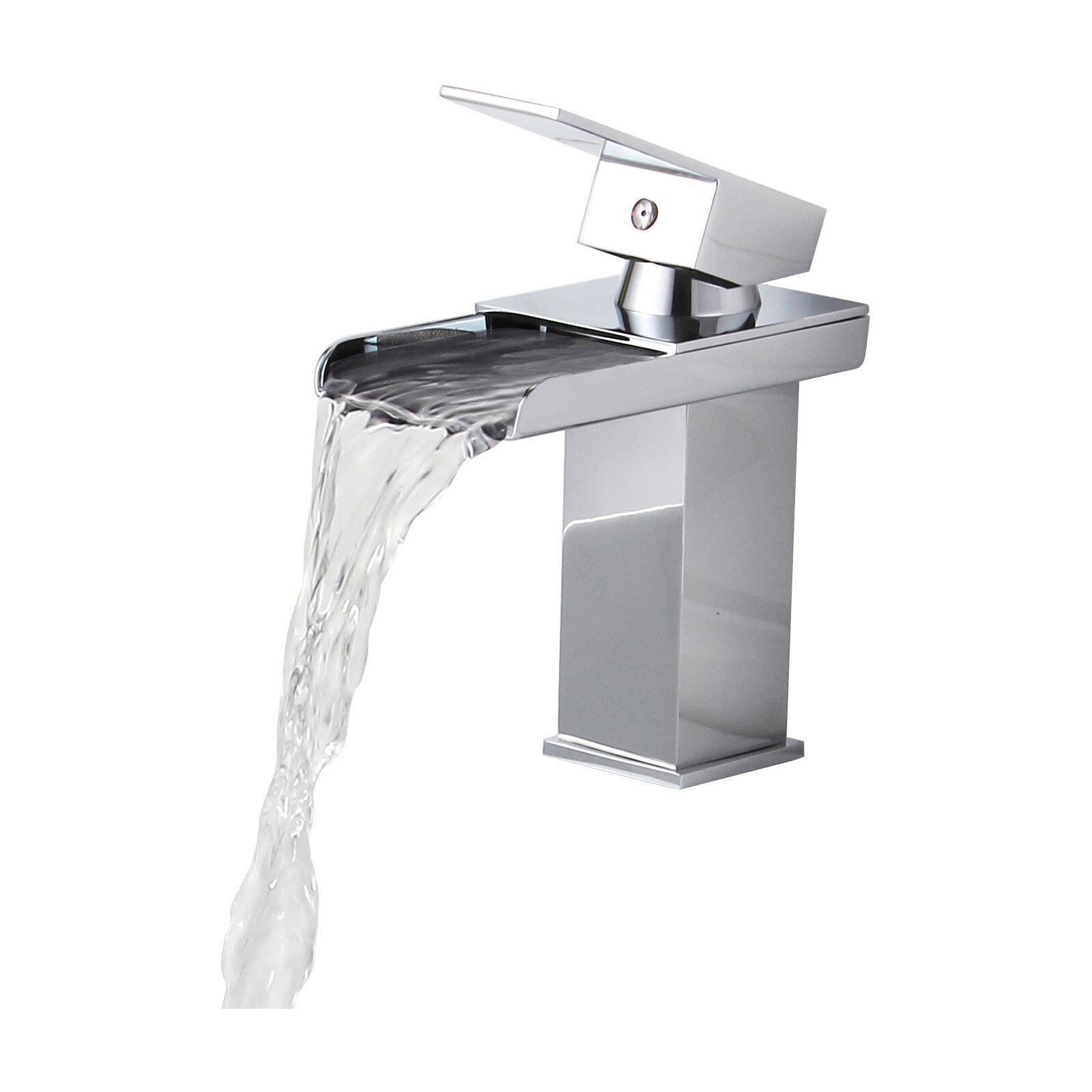 Single Faucet Bathroom Sink : Elite Single Handle Bathroom Sink Waterfall Faucet & Reviews Wayfair