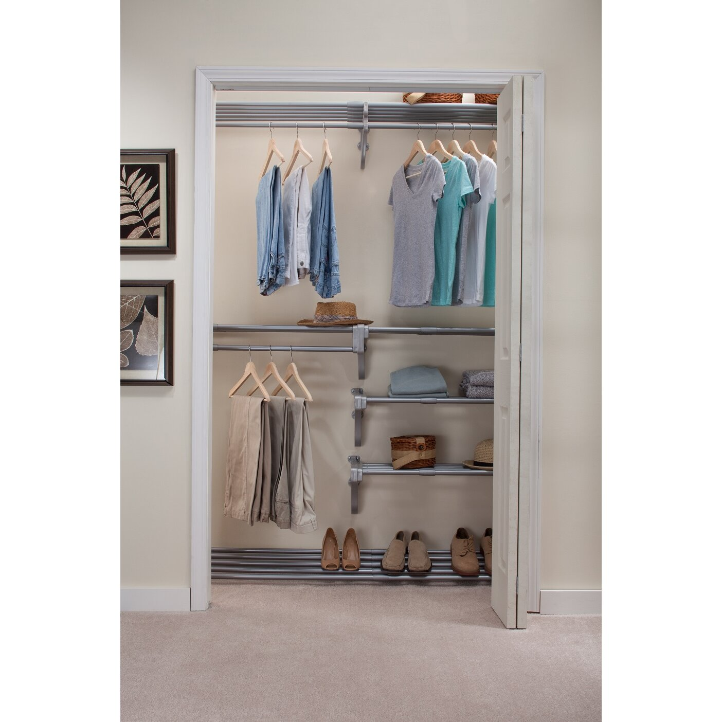 Ez shelf from tube technology expandable reach in closet for One day doors and closets reviews