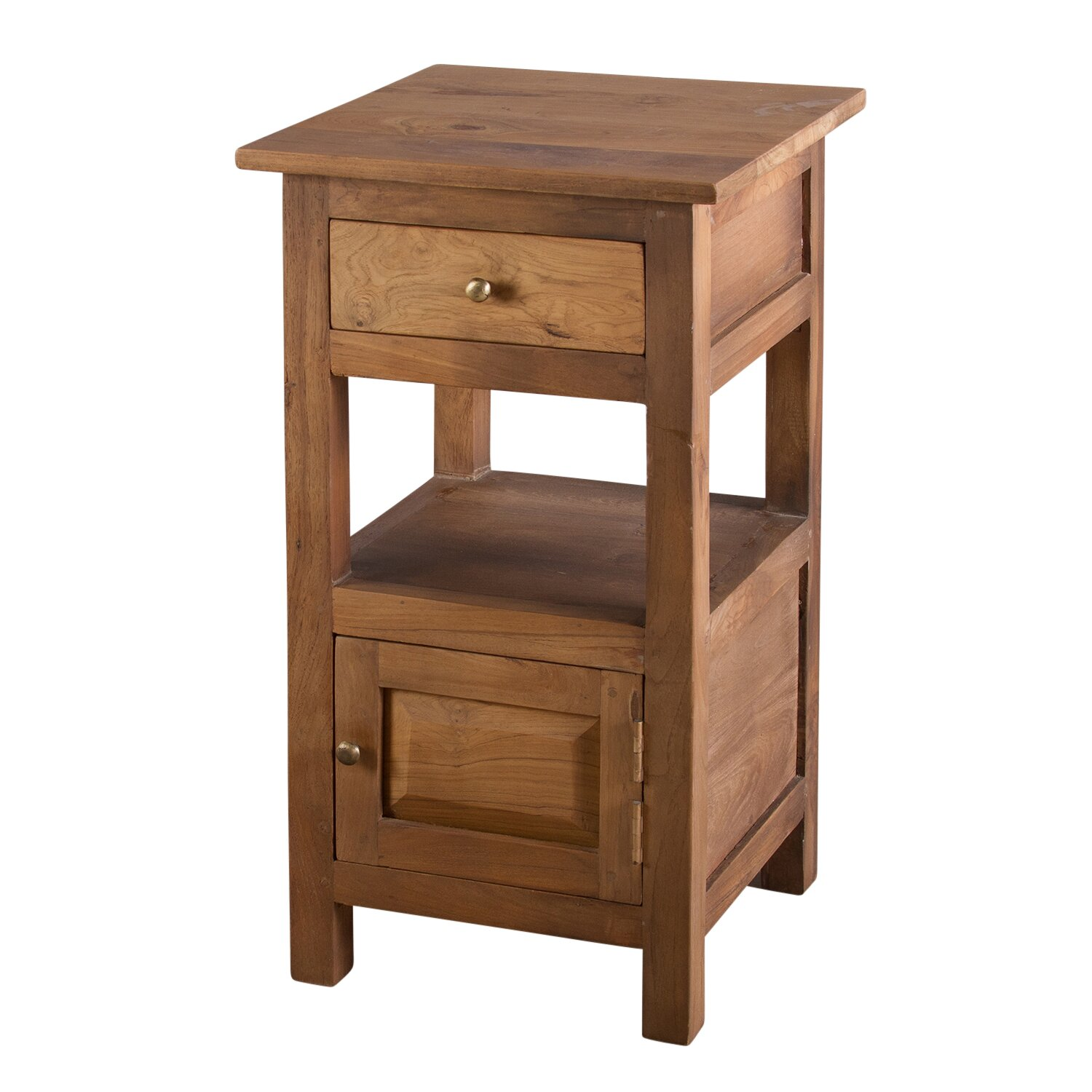 Urban Designs 1 Drawer Bedside Table & Reviews