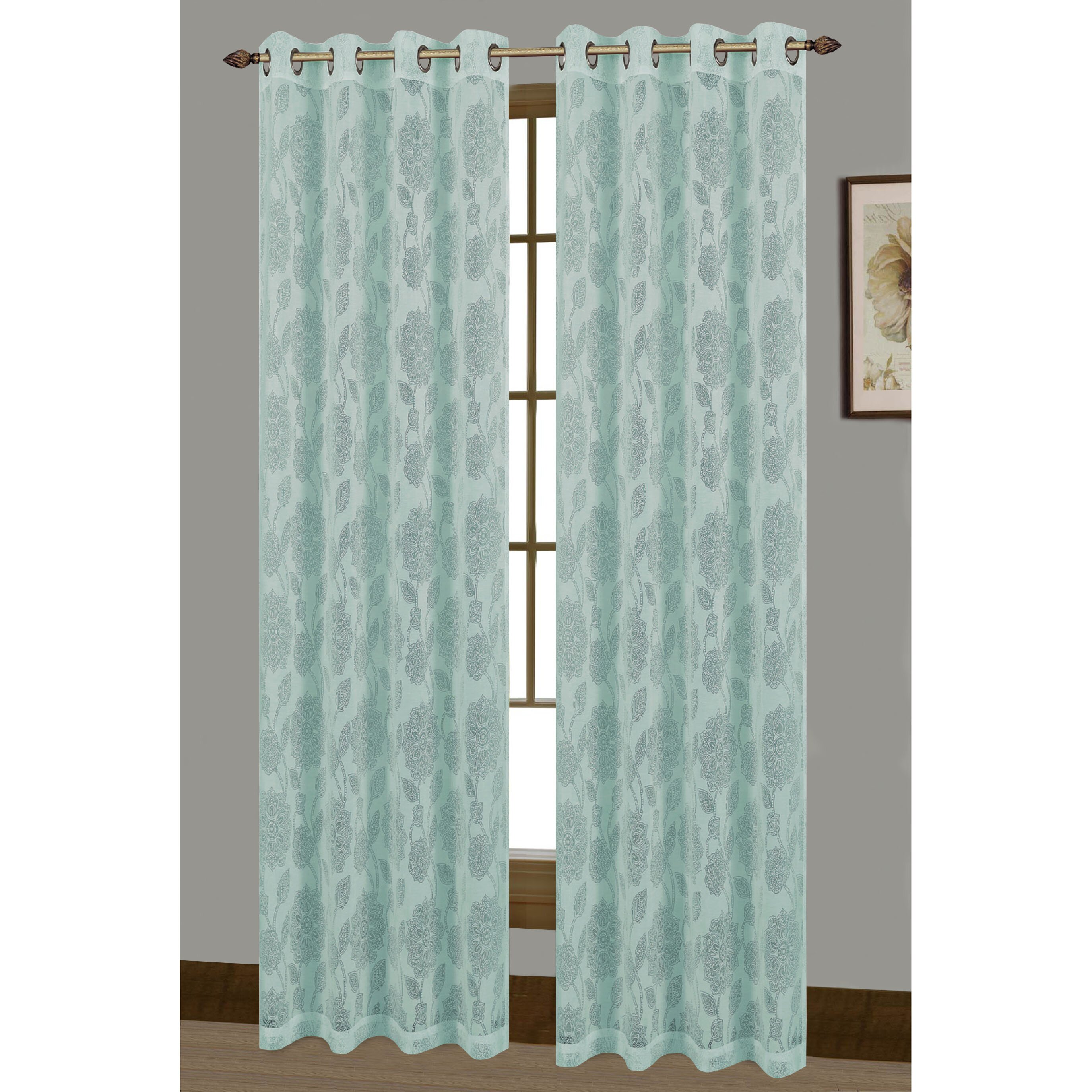 Wrap Around Curtain Rod Stretch Sheer Curtains