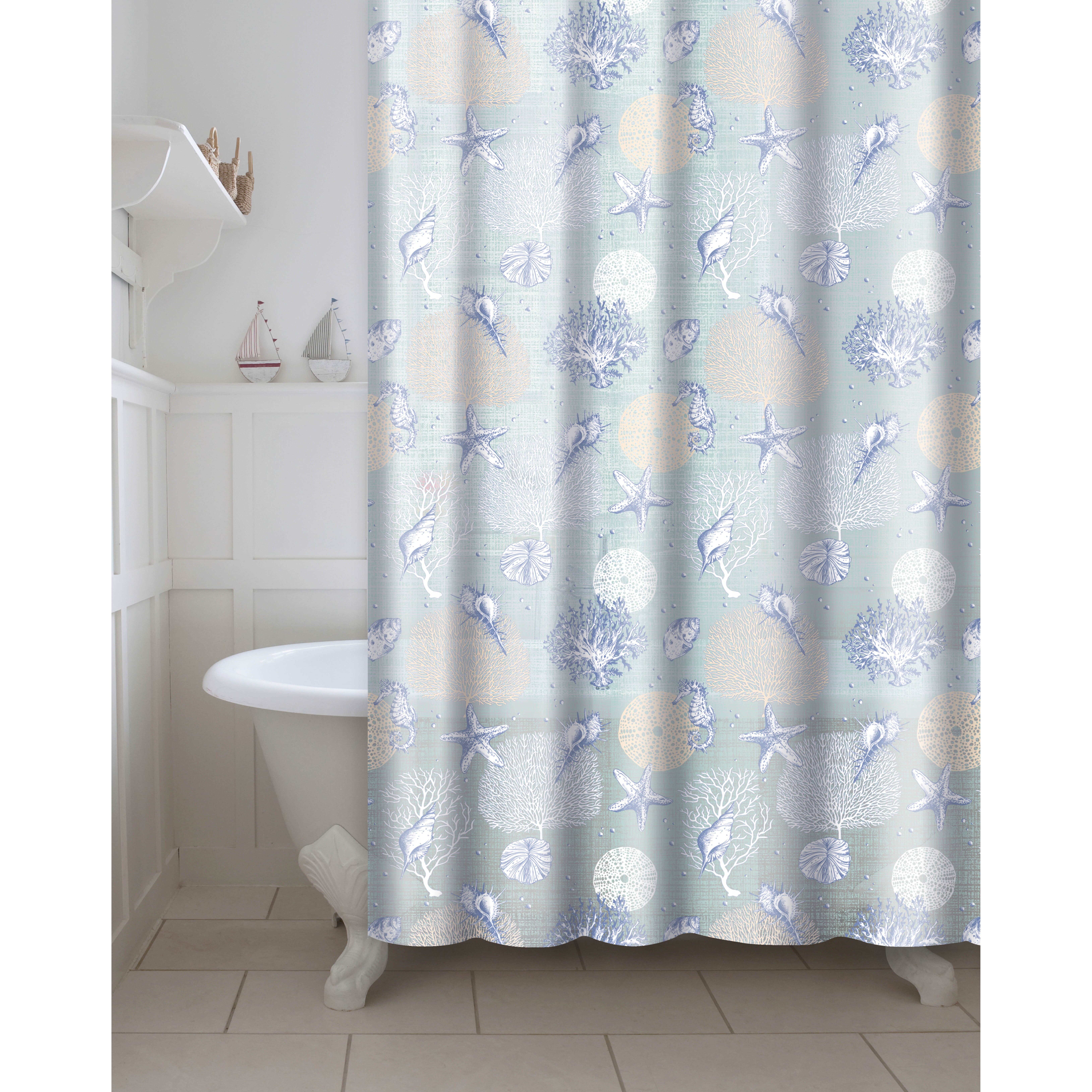 Style selections eva peva print multi fish shower curtain at lowes com - Peva 13 Piece Shower Curtain Set Wayfair Photo