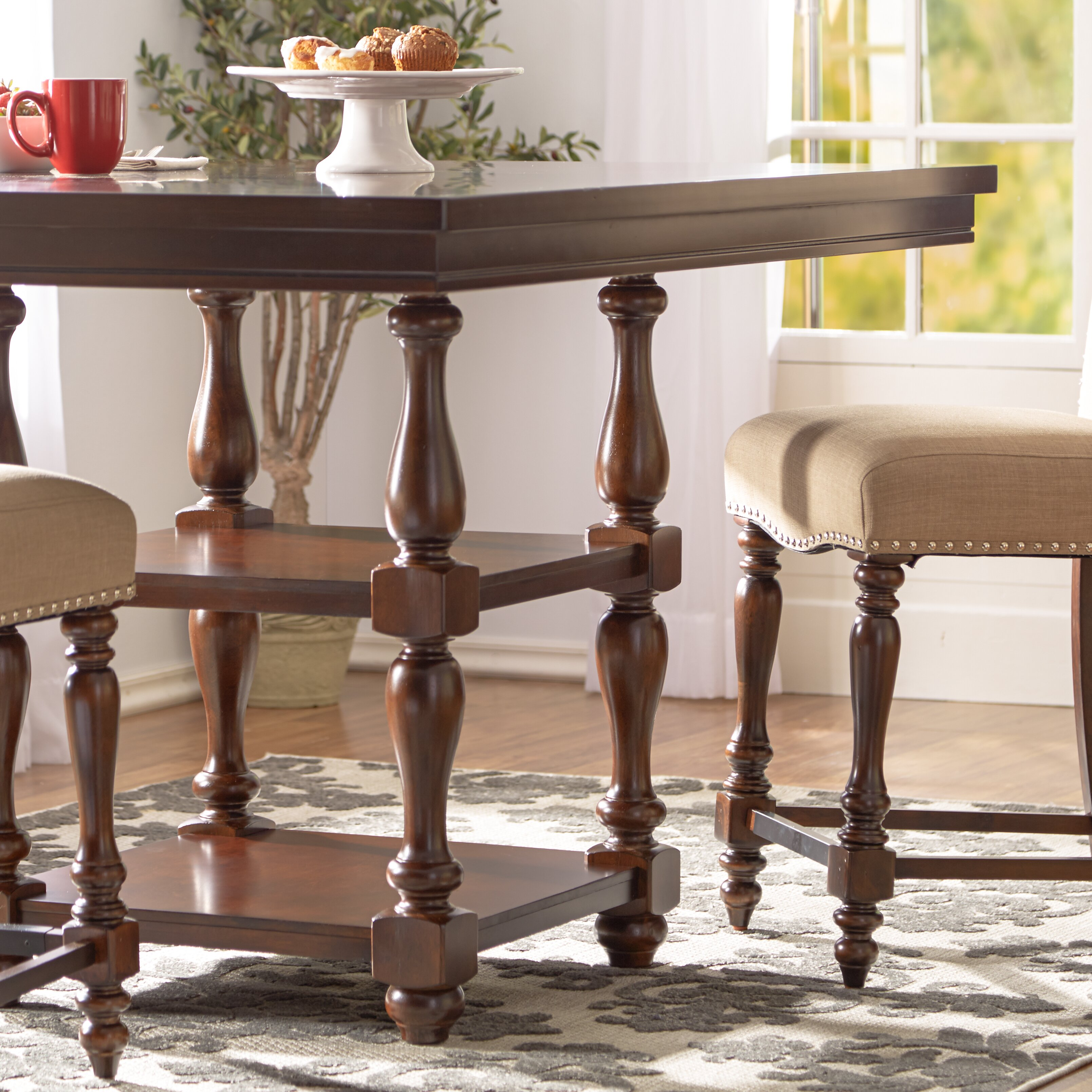 Three Posts Lanesboro Counter Height Dining Table Reviews Wayfair