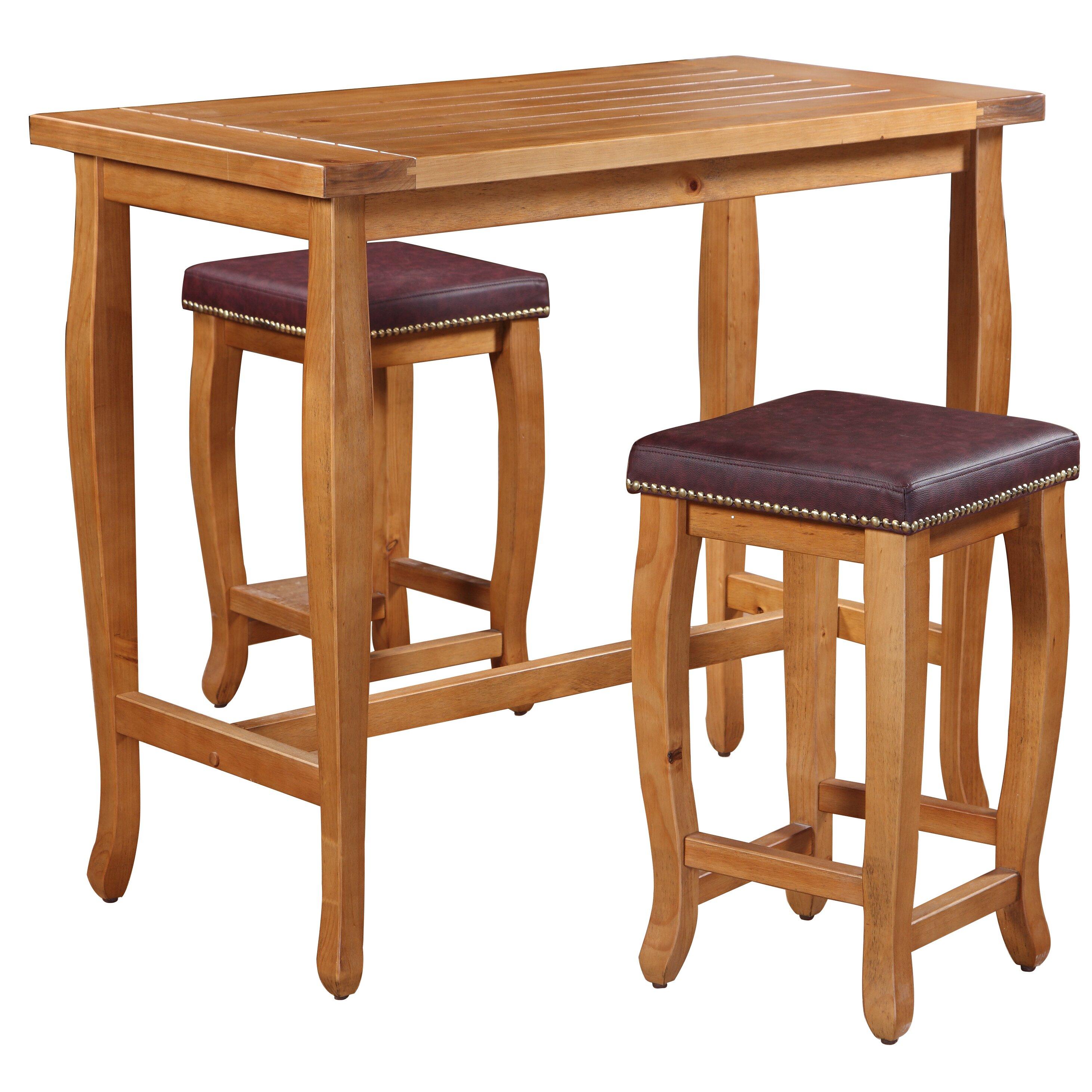 Furniture Bar Furniture  Rectangle Pub Tables & Bistro Sets Three