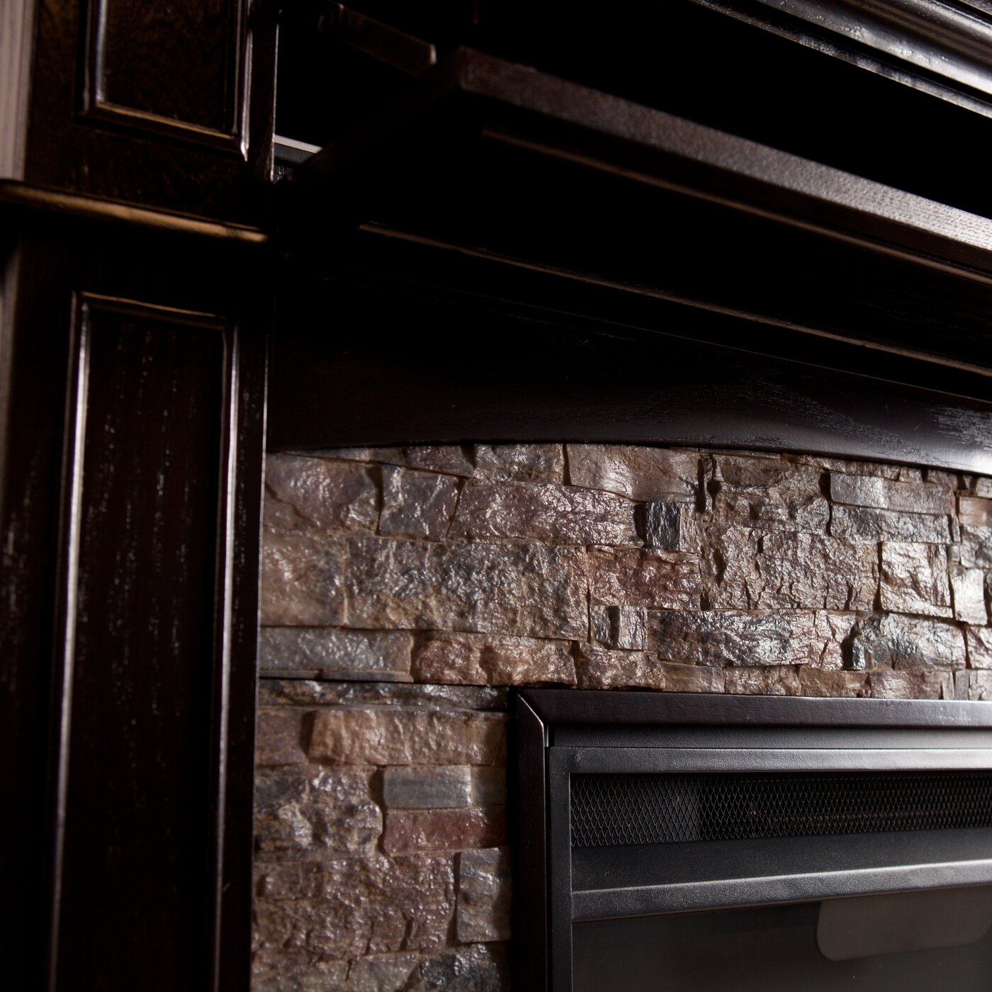 Apartment Finder No Credit Check: Three Posts Yvonne Faux Stone Corner Electric Fireplace