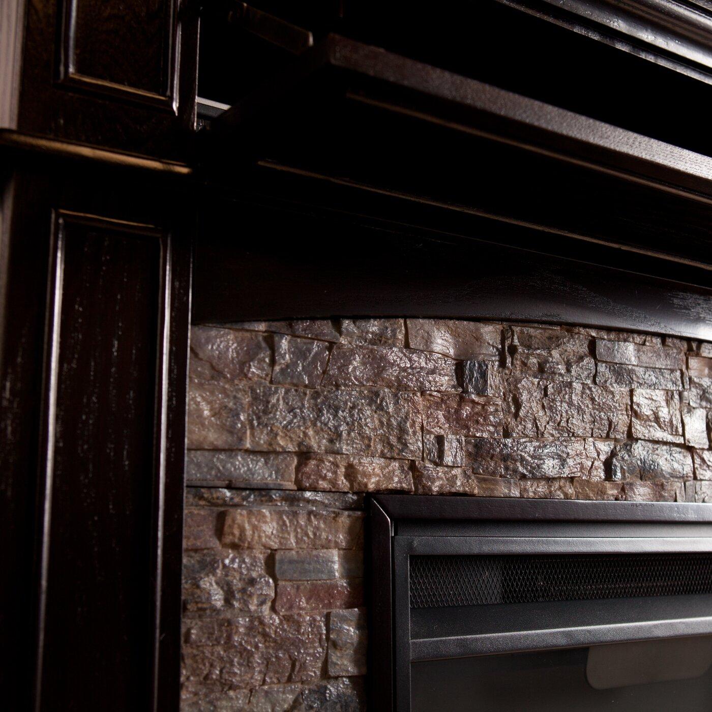 Three Posts Yvonne Faux Stone Corner Electric Fireplace