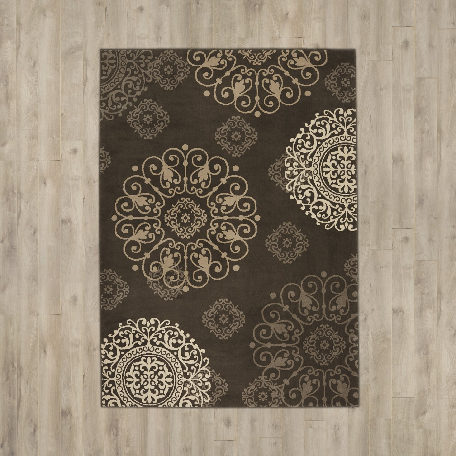 Three Posts Virgil Taupe Area Rug & Reviews