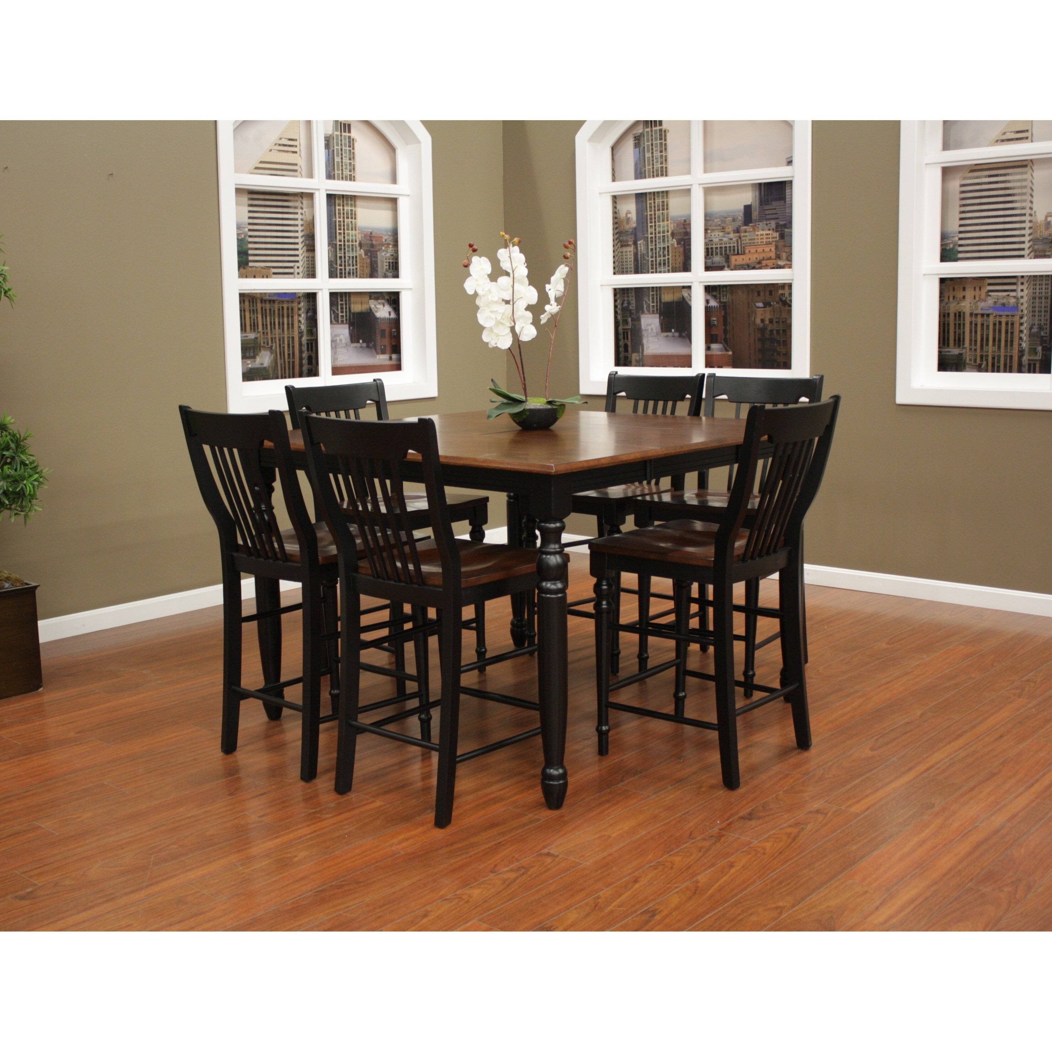 7 Piece Counter Height Dining Set At American Furniture: American Heritage Berkshire 7 Piece Counter Height Pub Set