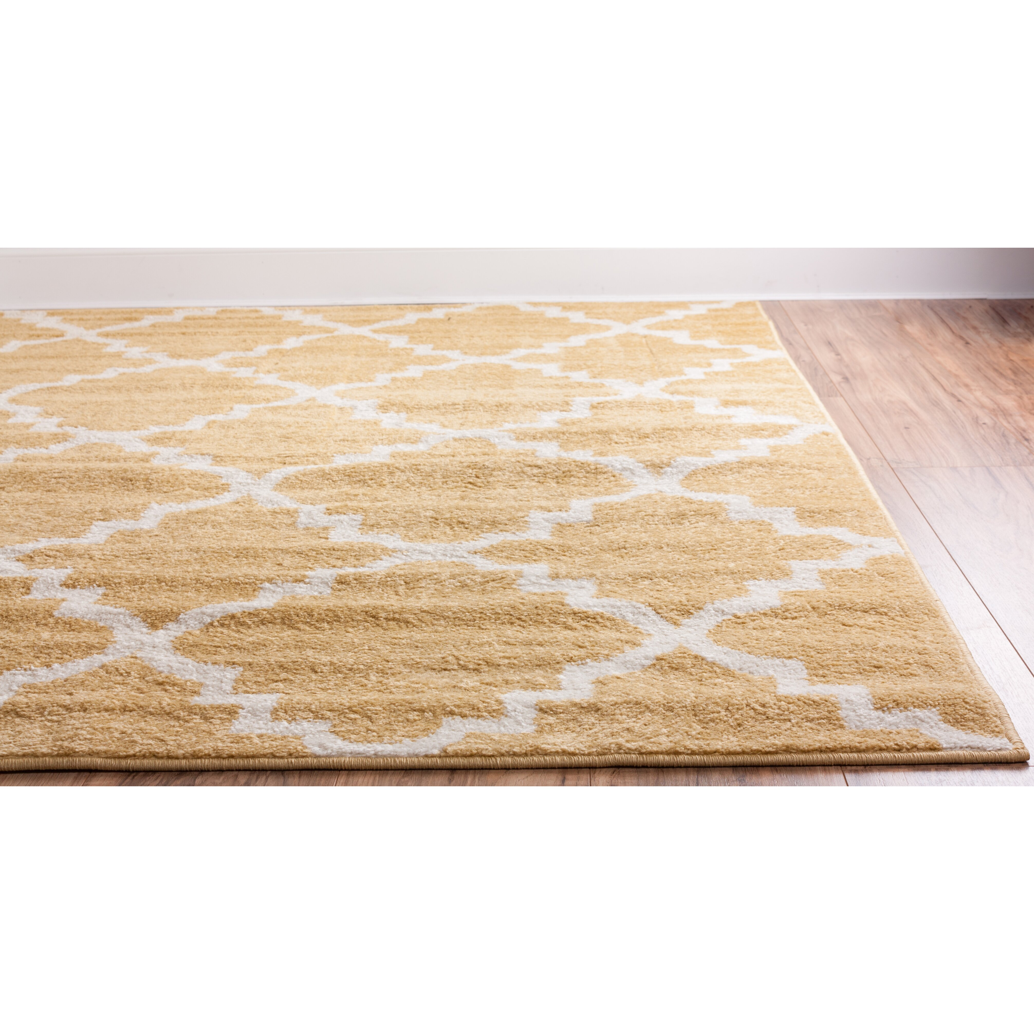 Well Woven Royal Court 3 Piece Yellow Area Rug Set