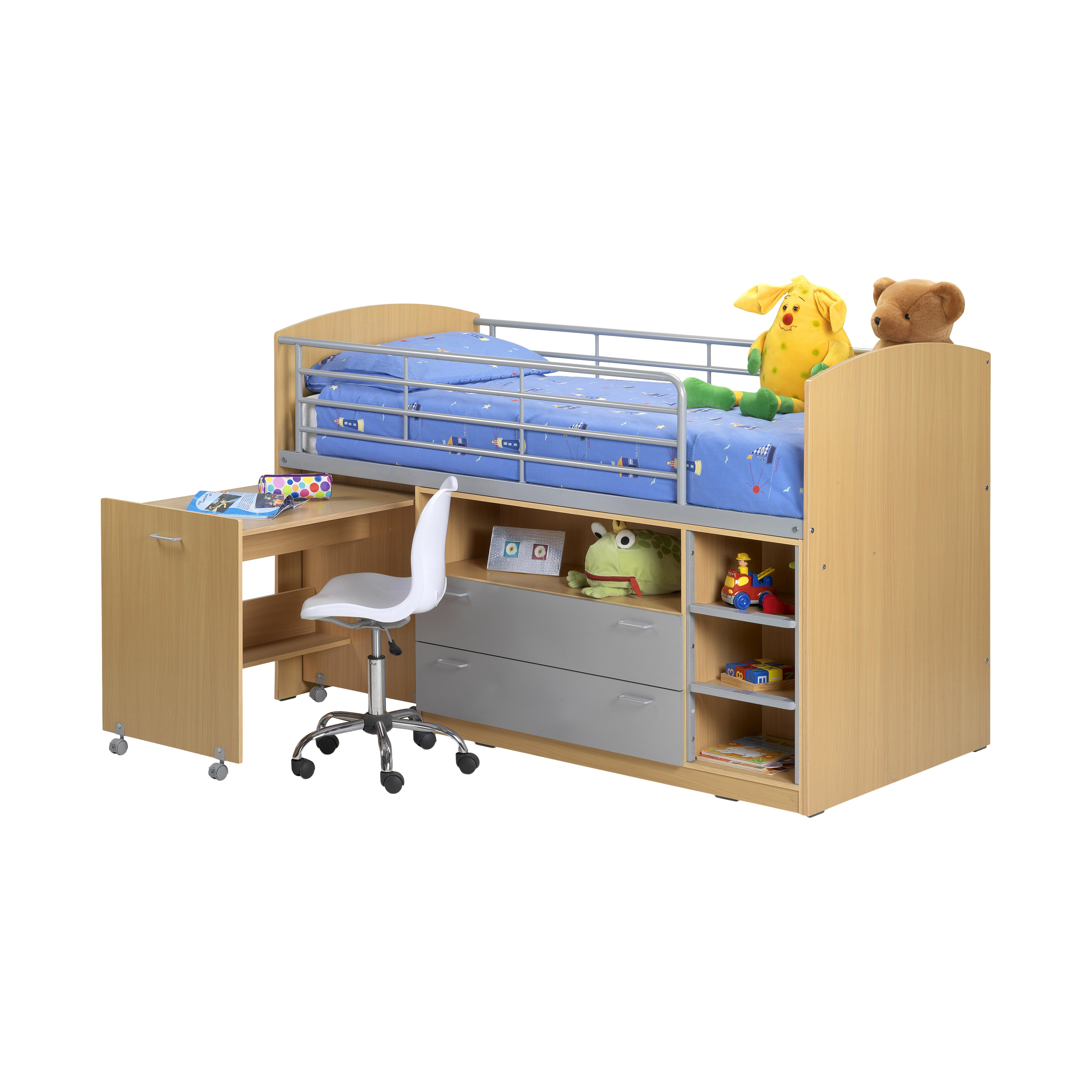 All Home Zodiac Cabin Single Mid Sleeper Bed with Storage ...