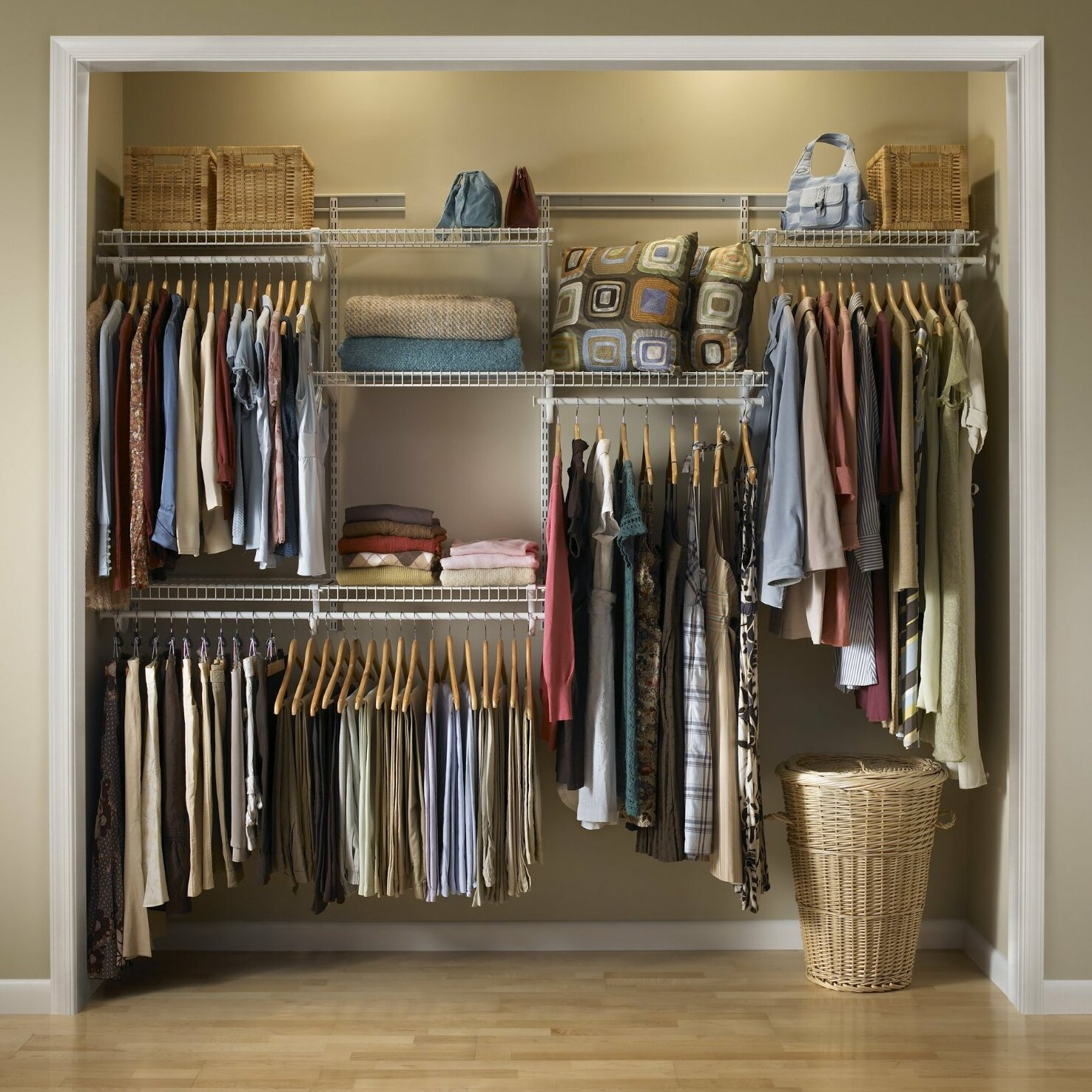 Home etc adjustable 4 shelf closet organiser kit reviews - Kit dressing pas cher ...