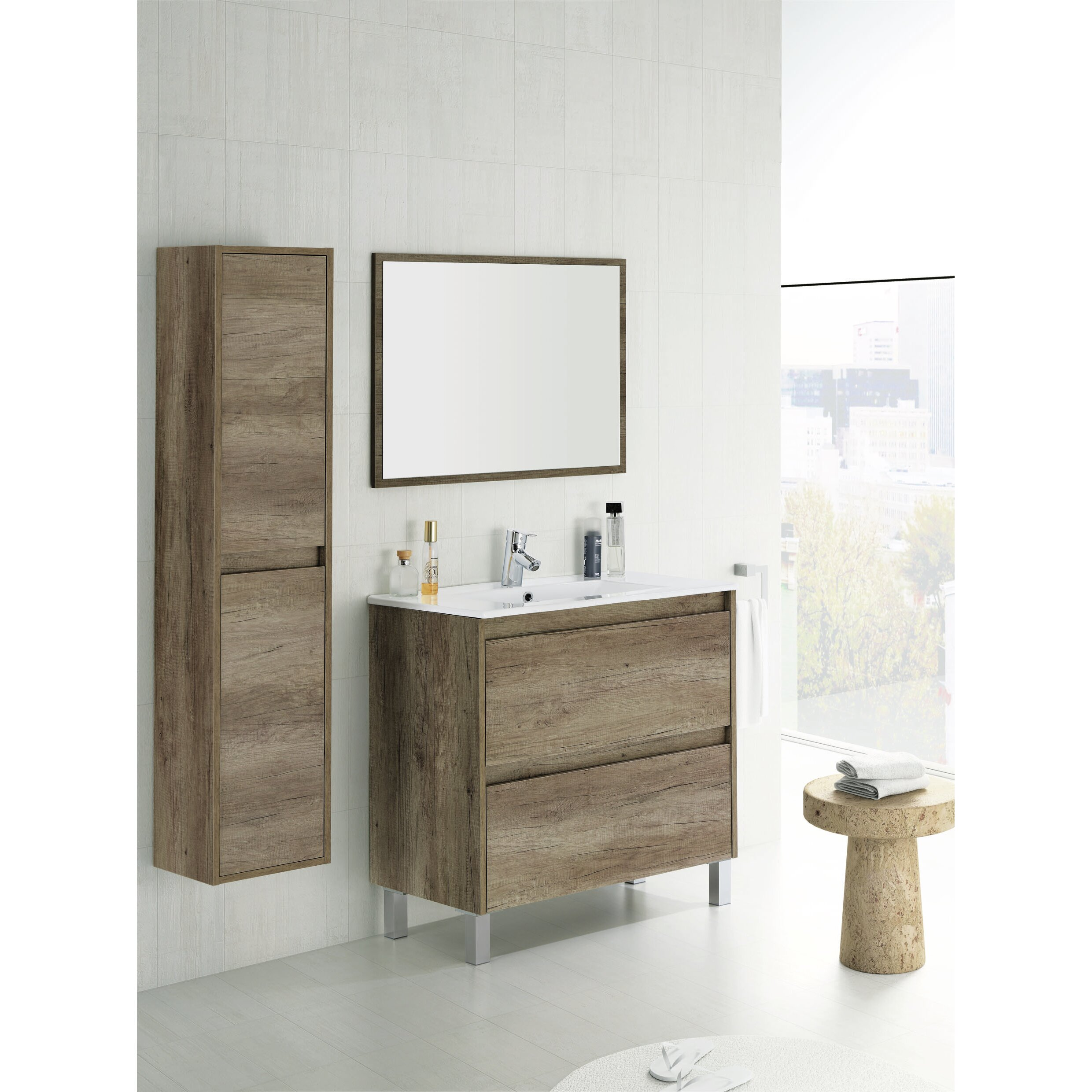 Home etc dakota 30 x 140 cm freestanding tall bathroom - Wayfair furniture bathroom vanities ...