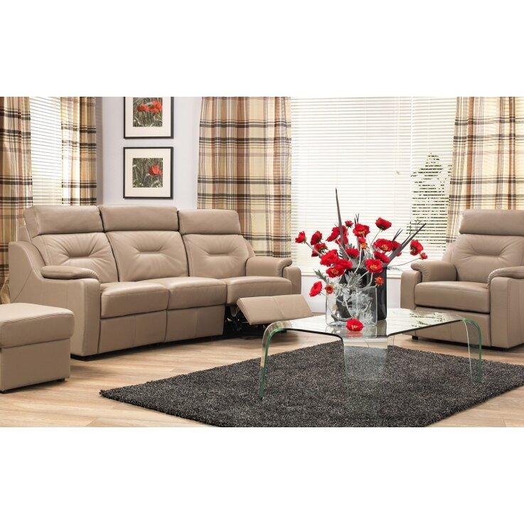 3 sitzer schlafsofa verona aus leder von home haus. Black Bedroom Furniture Sets. Home Design Ideas