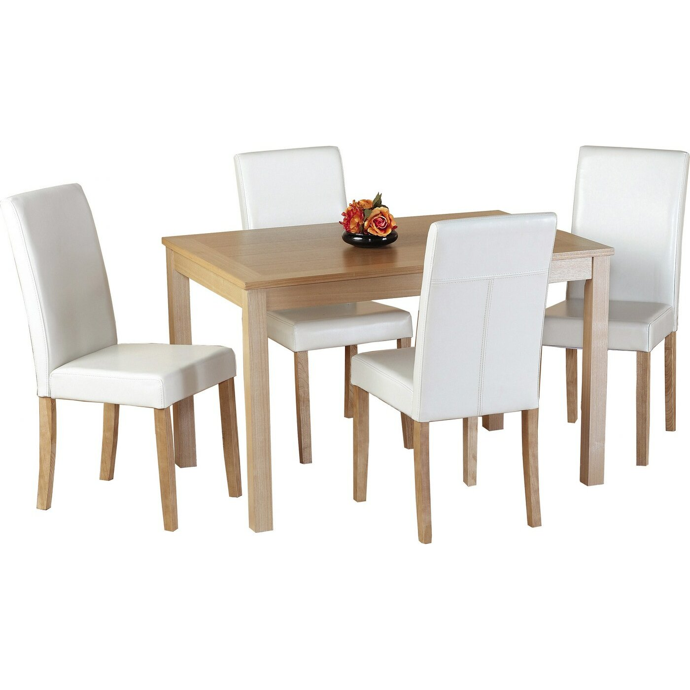 Home Haus Ivana Dining Table And 4 Chairs Reviews Wayfair Uk