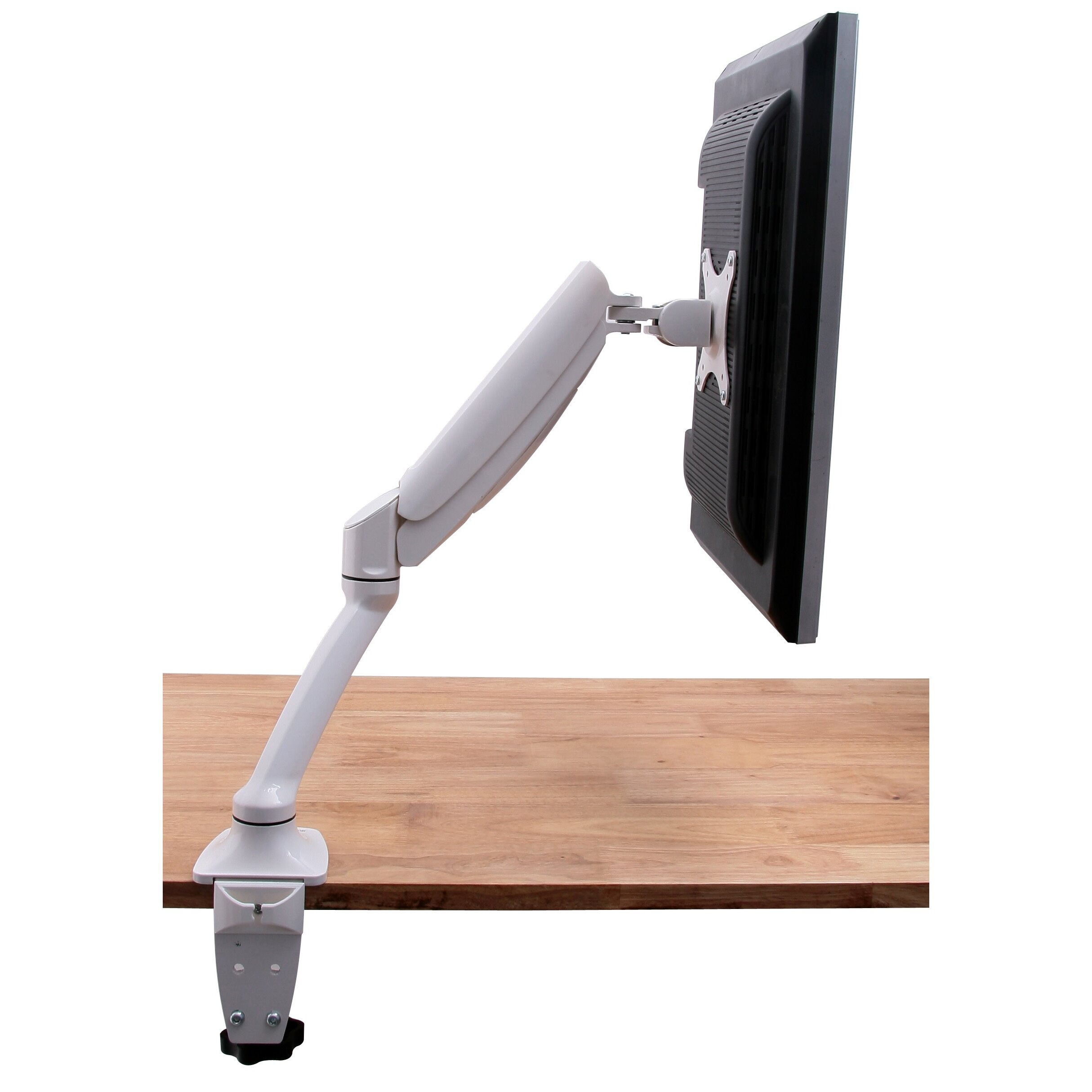 Single Lcd Monitor White Deluxe Gas Springt Up To 24 Quot Desk