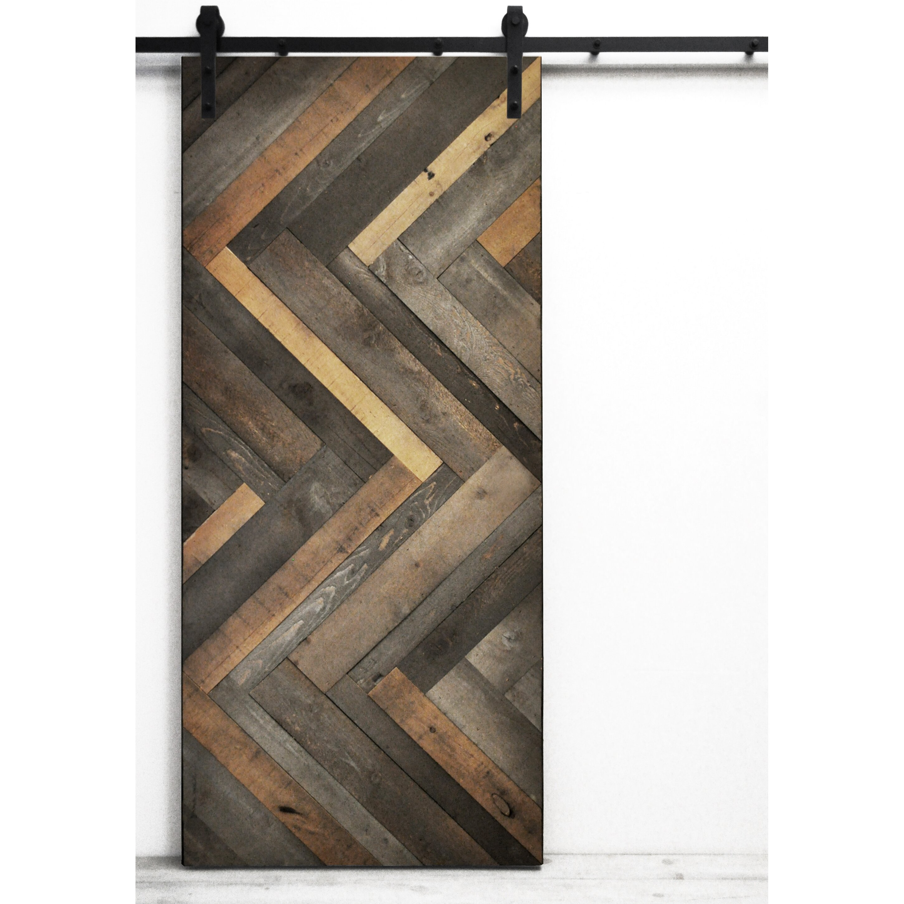 Crib hardware for sale - Dogberry Collections Herringbone Wood Lacquer Stained Interior Barn