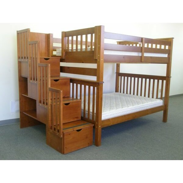 bedz king full over full bunk bed with trundle reviews. Black Bedroom Furniture Sets. Home Design Ideas