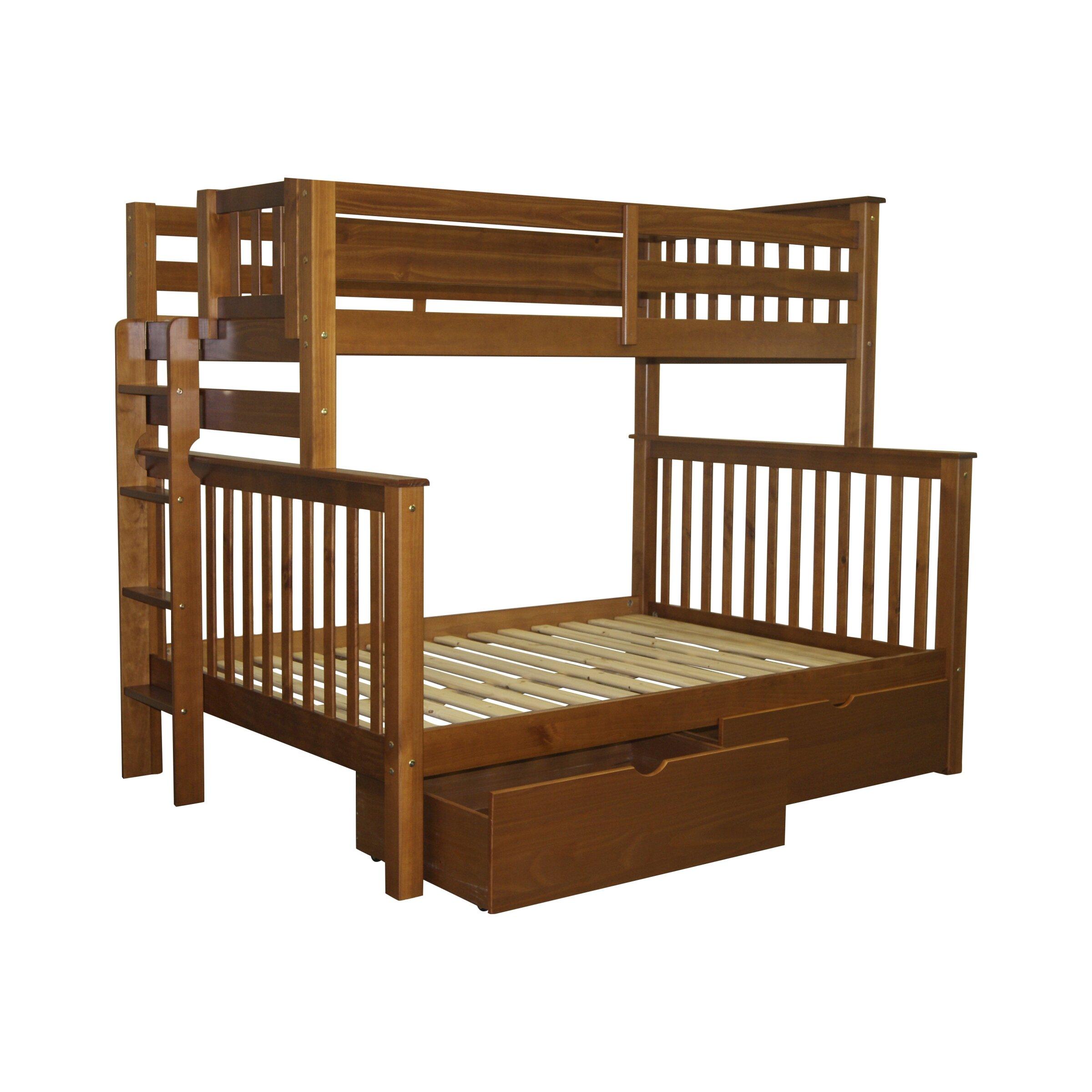 bedz king mission twin over full bunk bed reviews wayfair. Black Bedroom Furniture Sets. Home Design Ideas