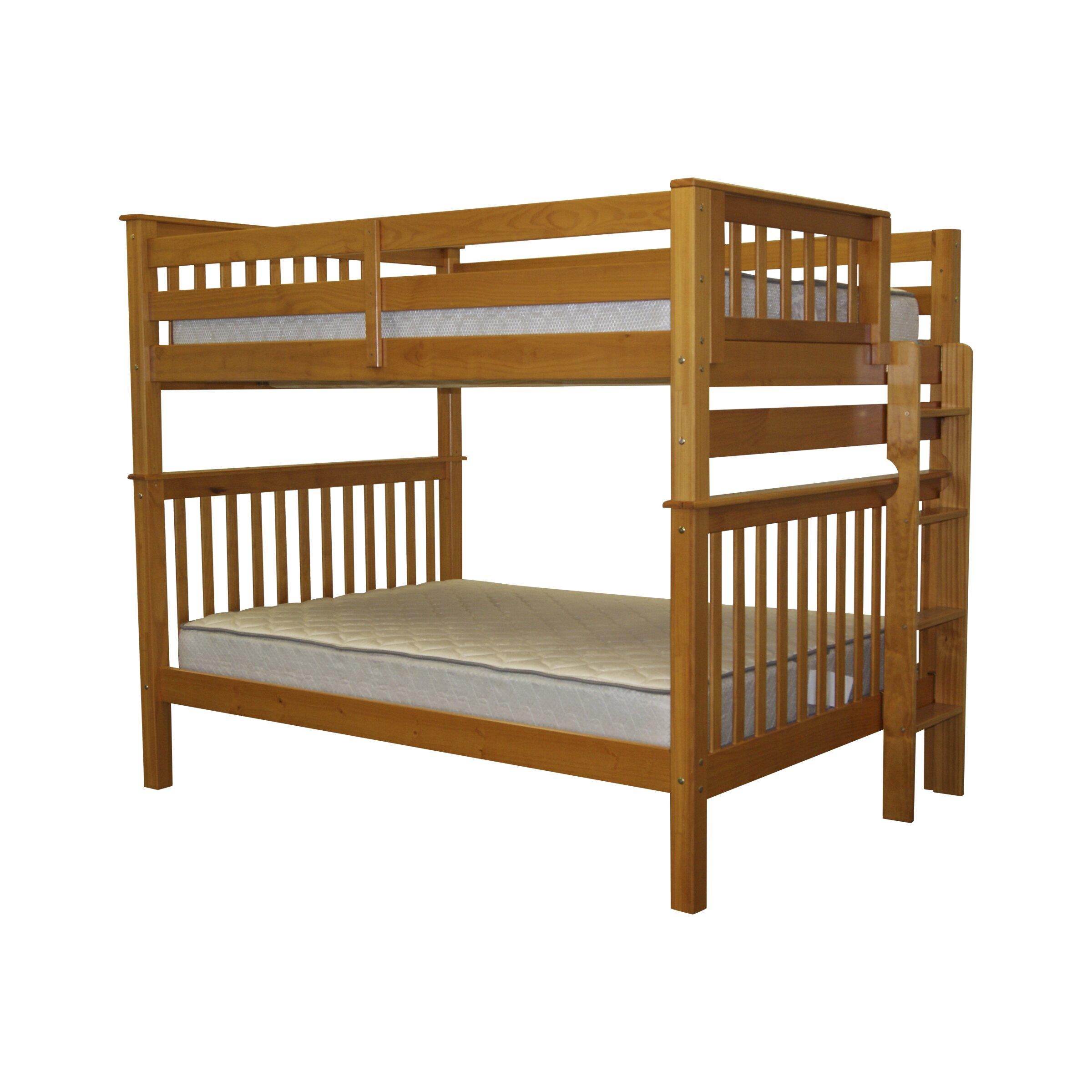 bedz king full over full bunk bed reviews wayfair. Black Bedroom Furniture Sets. Home Design Ideas