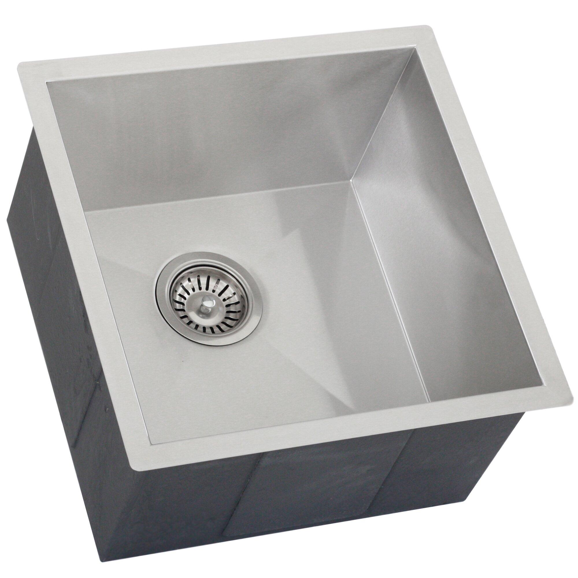 Ticor Sinks : ... Steel Single Bowl Square Undermount Kitchen Bar Sink by Ticor Sinks