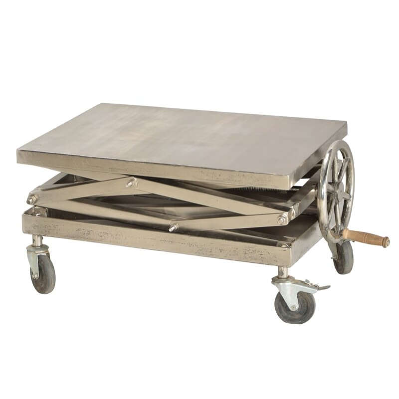 Modern industrial coffee table wayfair for Coffee tables industrial