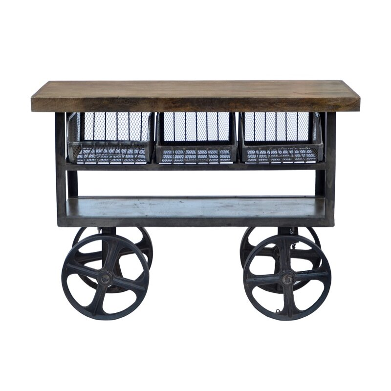 Industrial Kitchen Trolley: CDI International Industrial Kitchen Cart With Mango Top