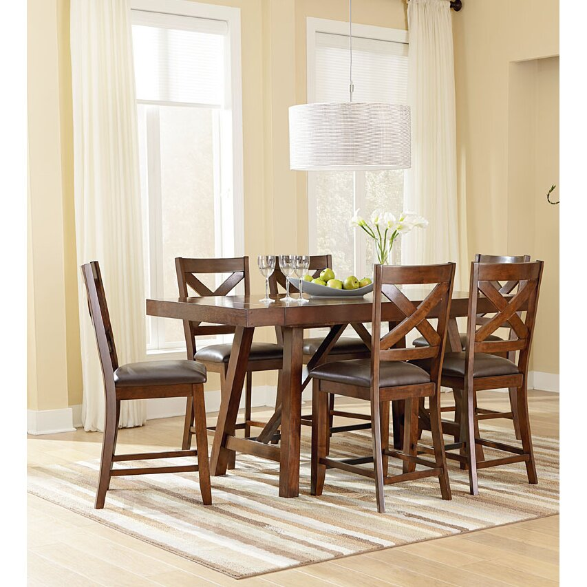 Standard Furniture Omaha Counter Height Extendable Dining Table ...
