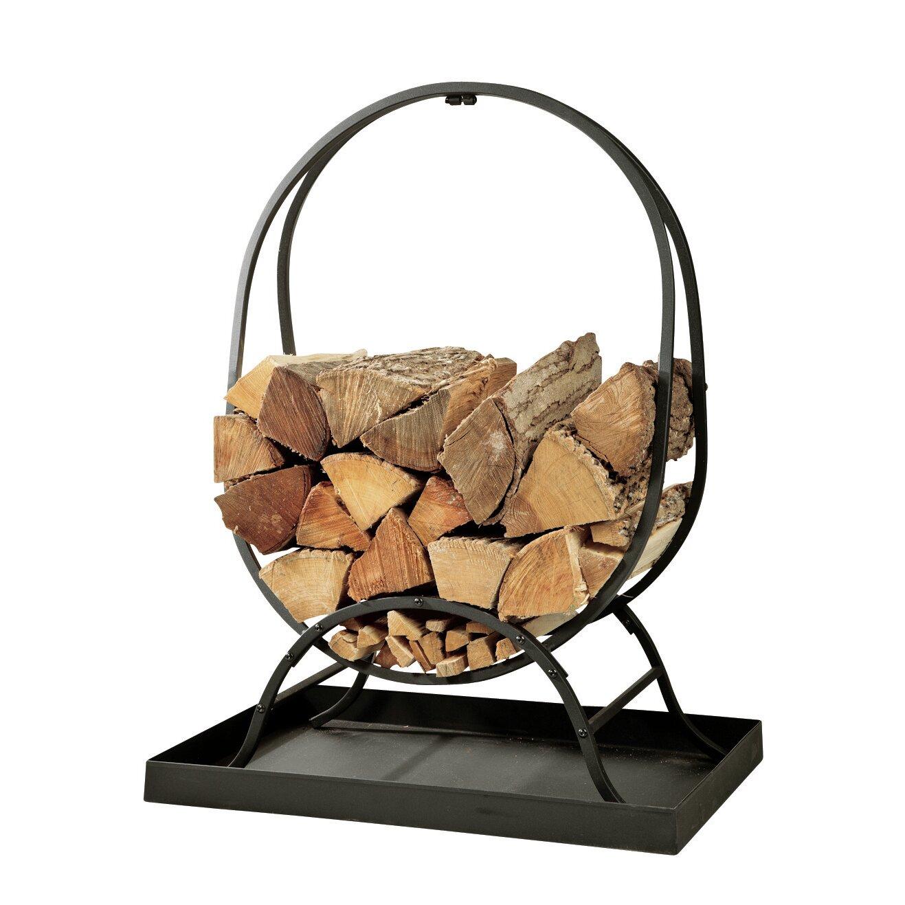 Plow Amp Hearth Steel Wood Log Rack Amp Reviews Wayfair