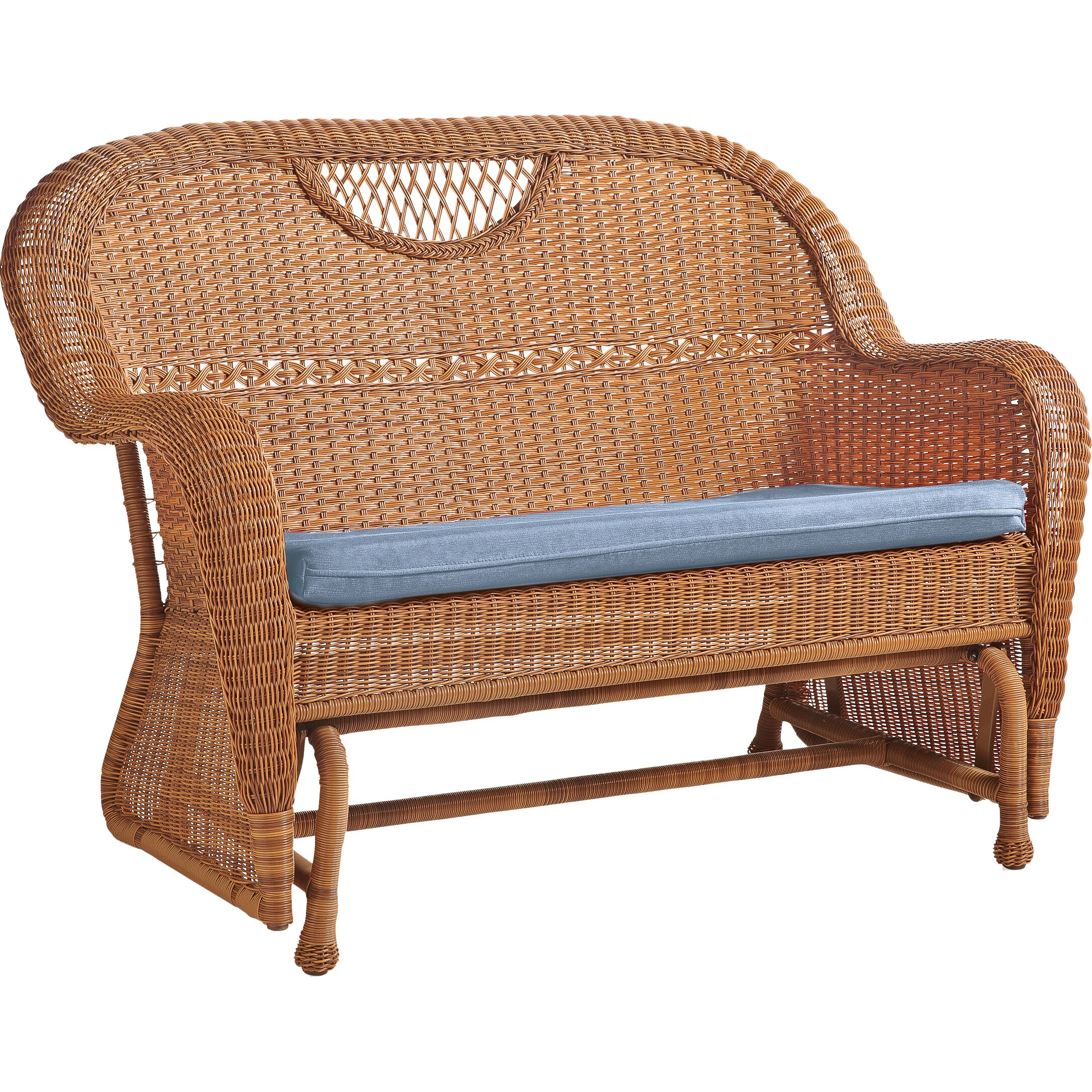 Hearth Bench: Plow & Hearth Prospect Hill Outdoor Resin Wicker Love Seat