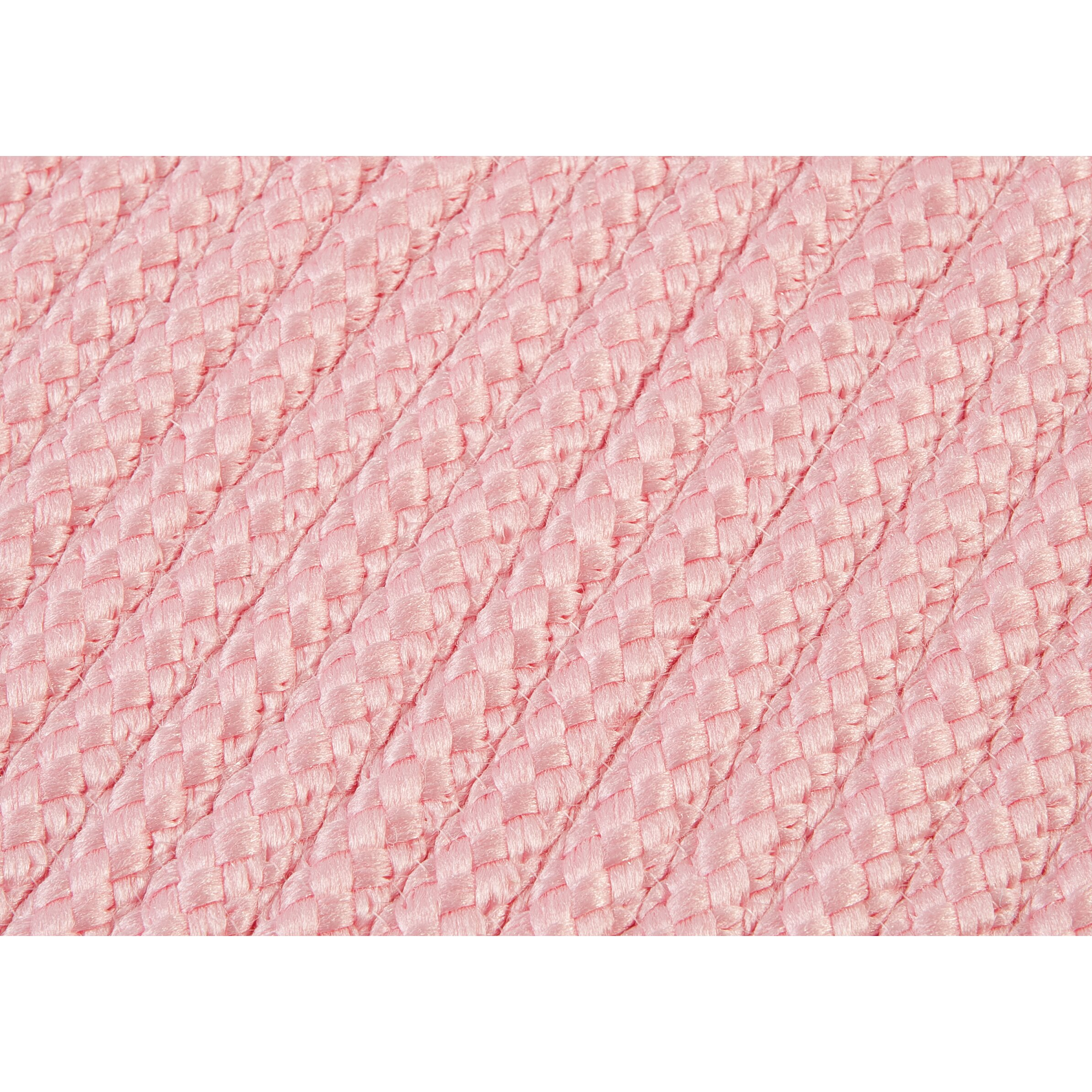 Simply Home Light Pink Solid Indoor/Outdoor Area Rug