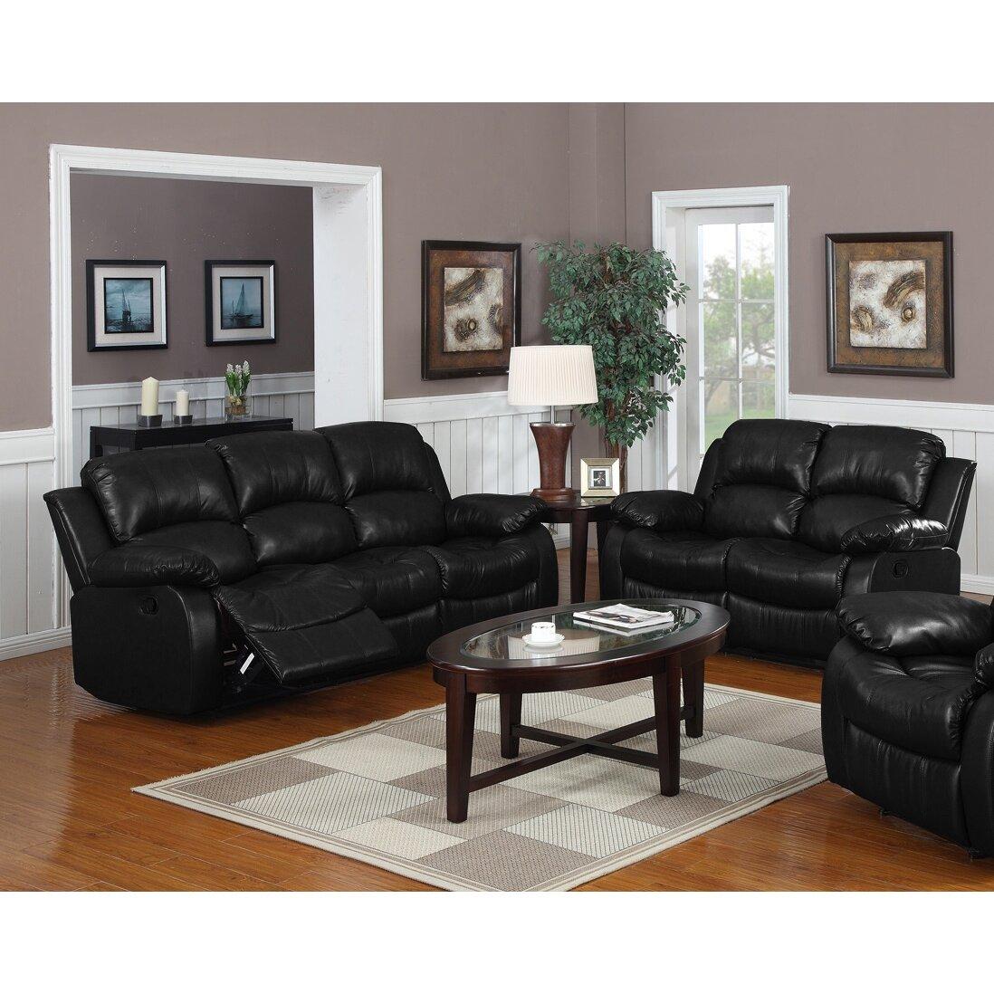 wildon home montclair 2 piece reclining living room set